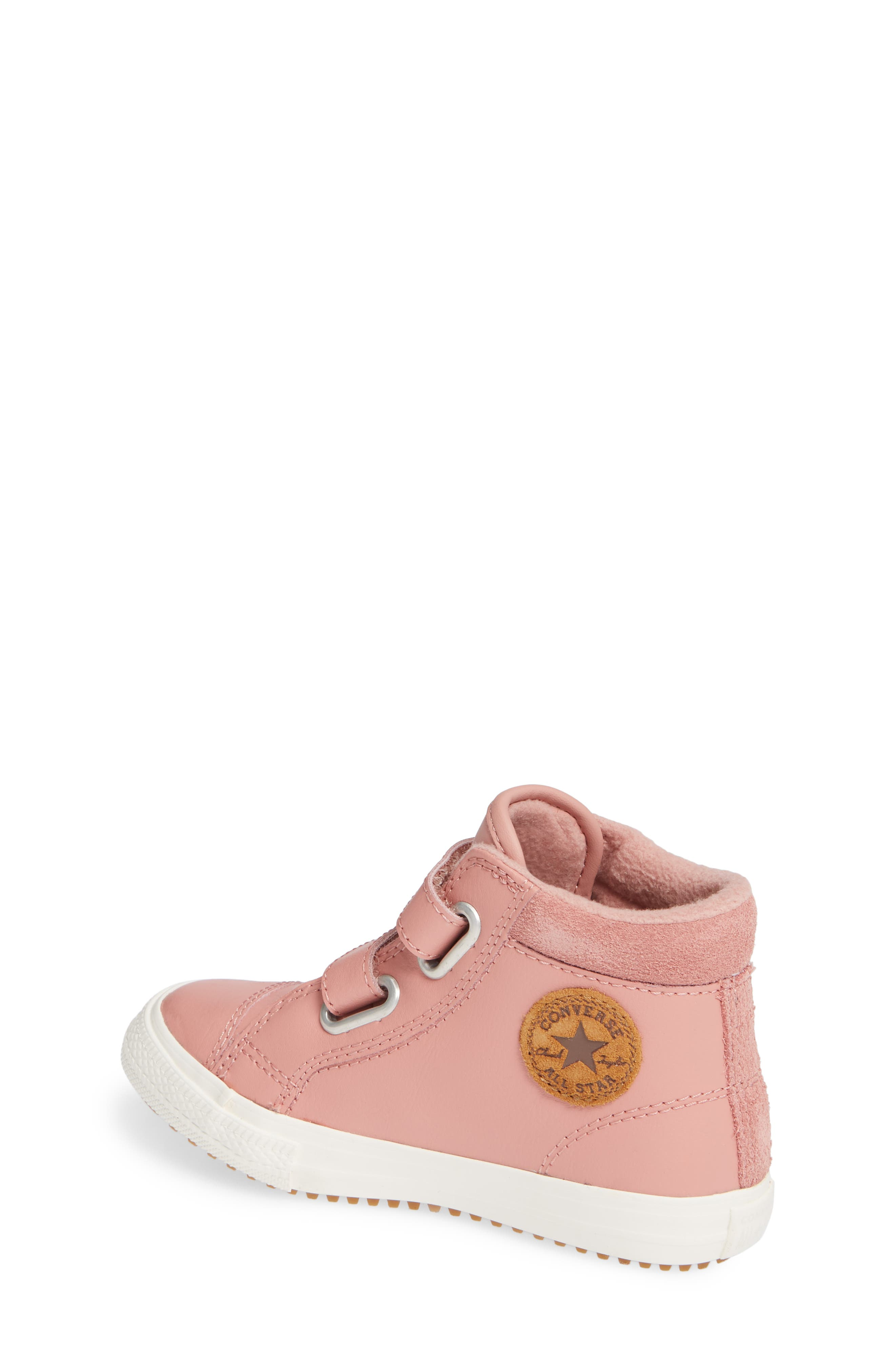Chuck Taylor<sup>®</sup> All Star<sup>®</sup> 2V Leather High Top Sneaker,                             Alternate thumbnail 2, color,                             RUST PINK