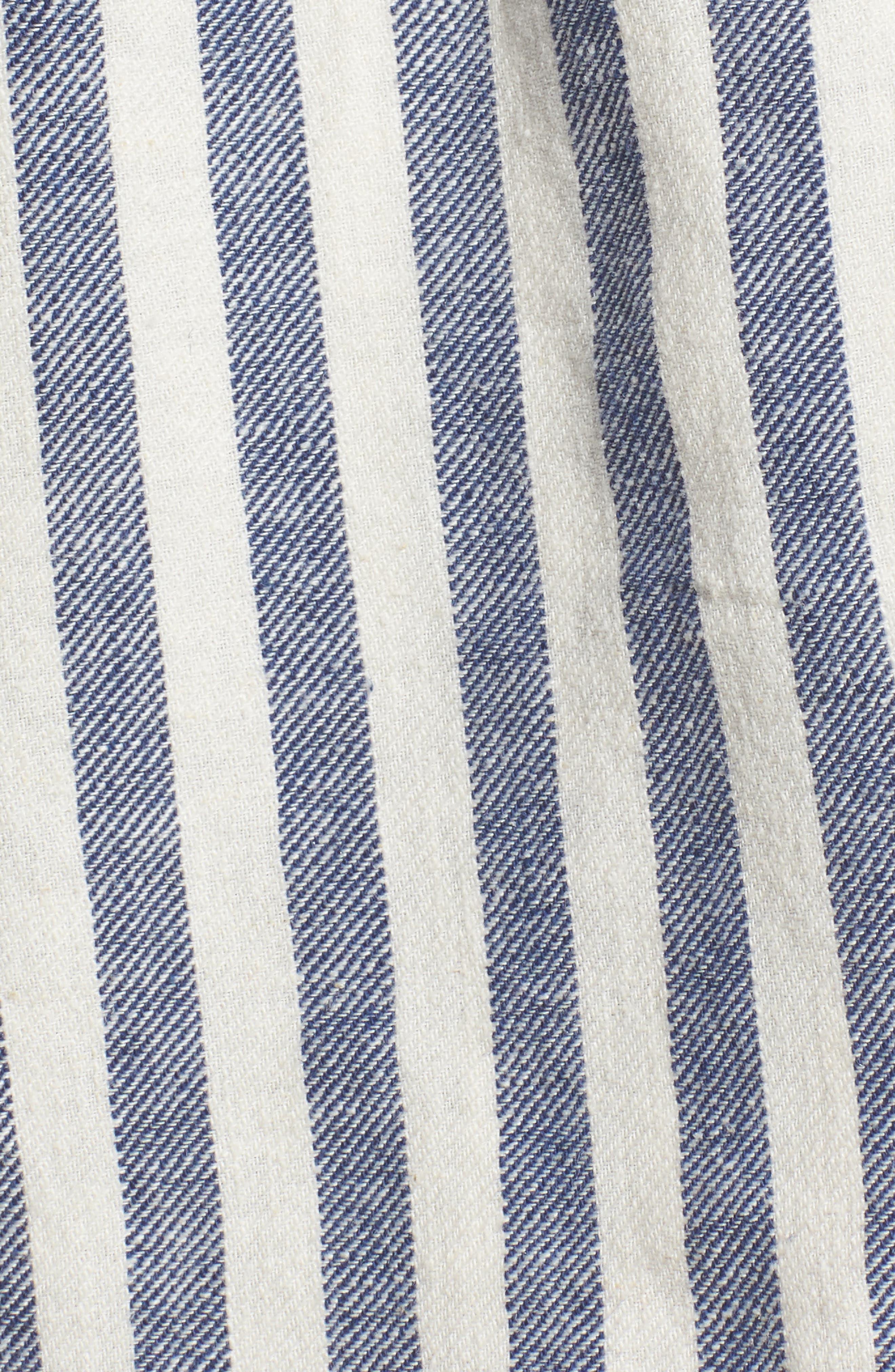Stripe Linen Blend Shorts,                             Alternate thumbnail 5, color,                             903