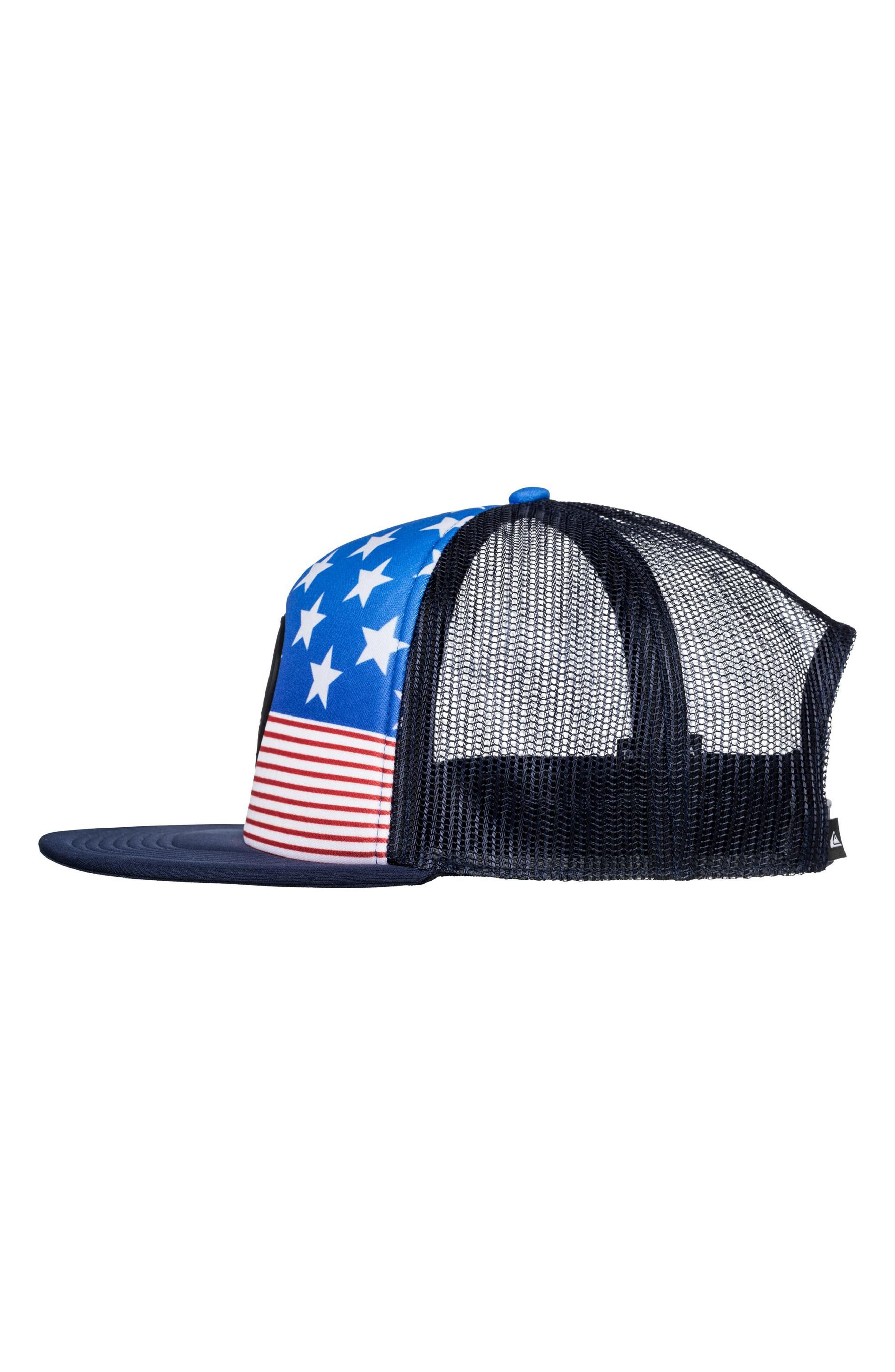 Quicksilver Faded Out Trucker Hat,                             Alternate thumbnail 10, color,