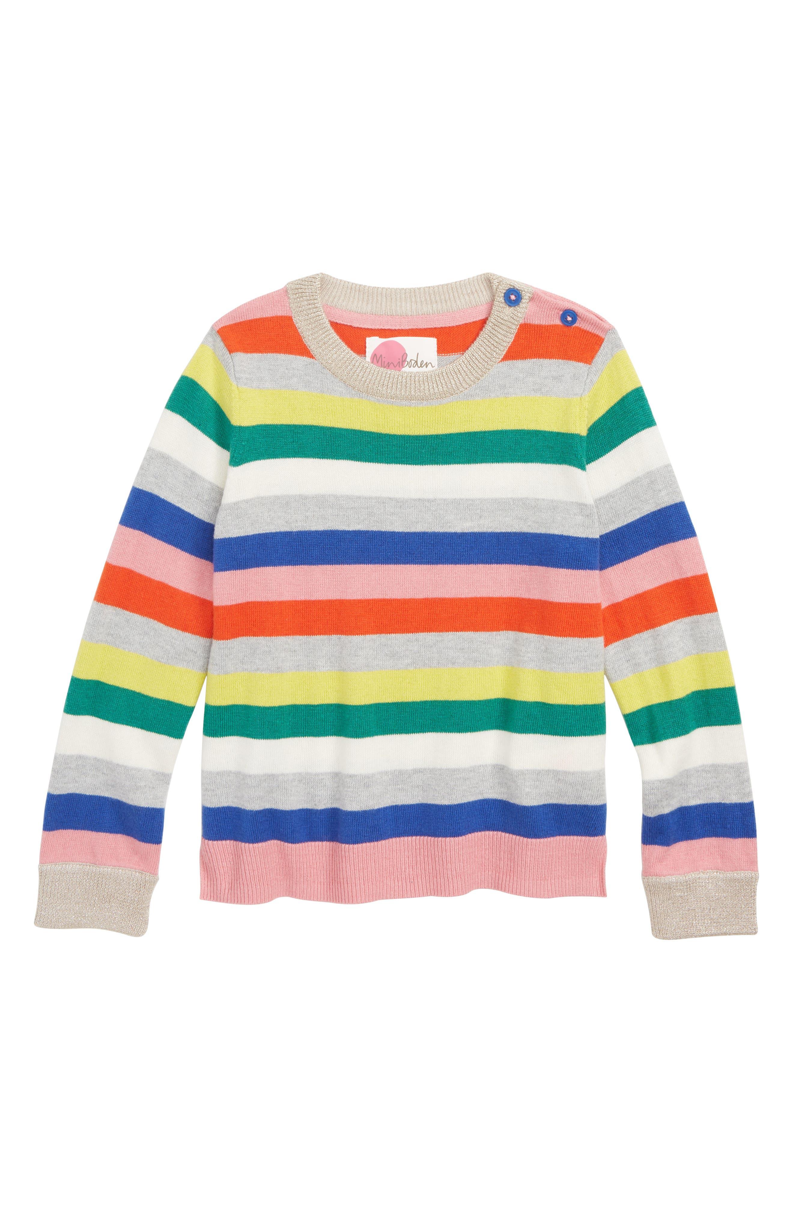 Fun Sweater,                             Main thumbnail 1, color,                             MULTISTRIPE