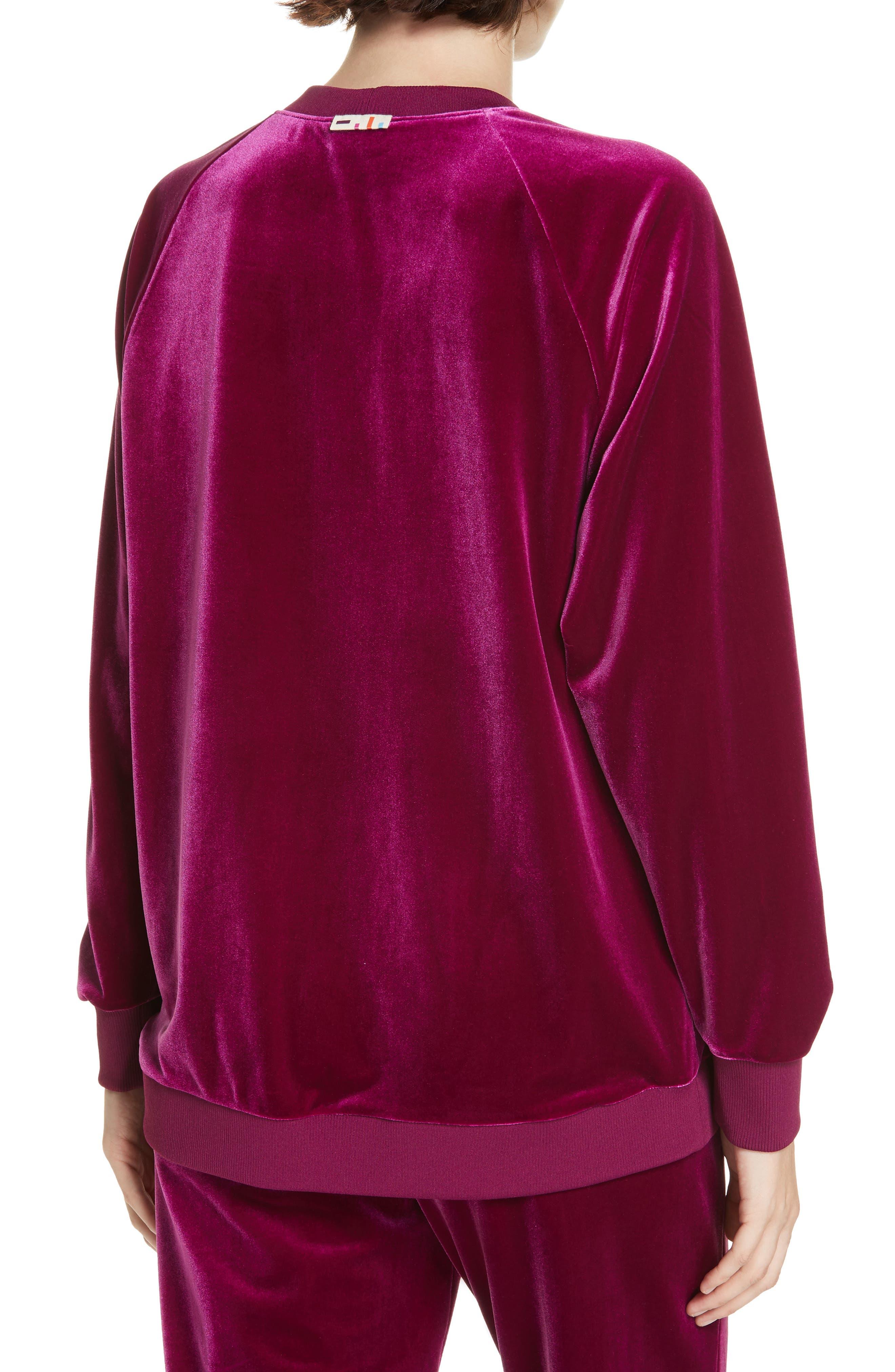 Tibi Velvet Sweatshirt, Purple