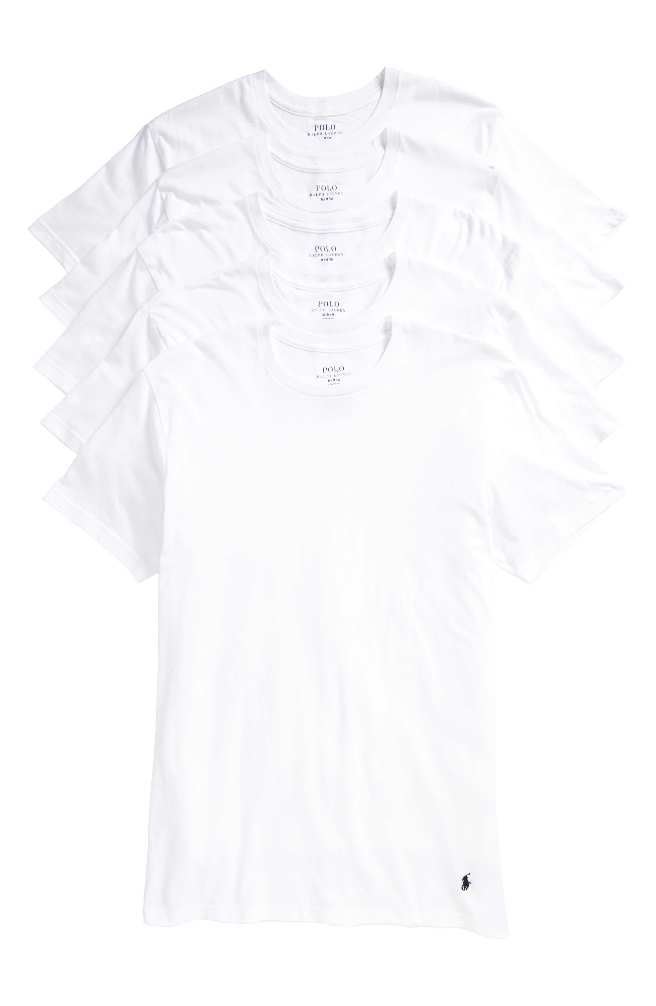 5-Pack Crewneck T-Shirt,                         Main,                         color,