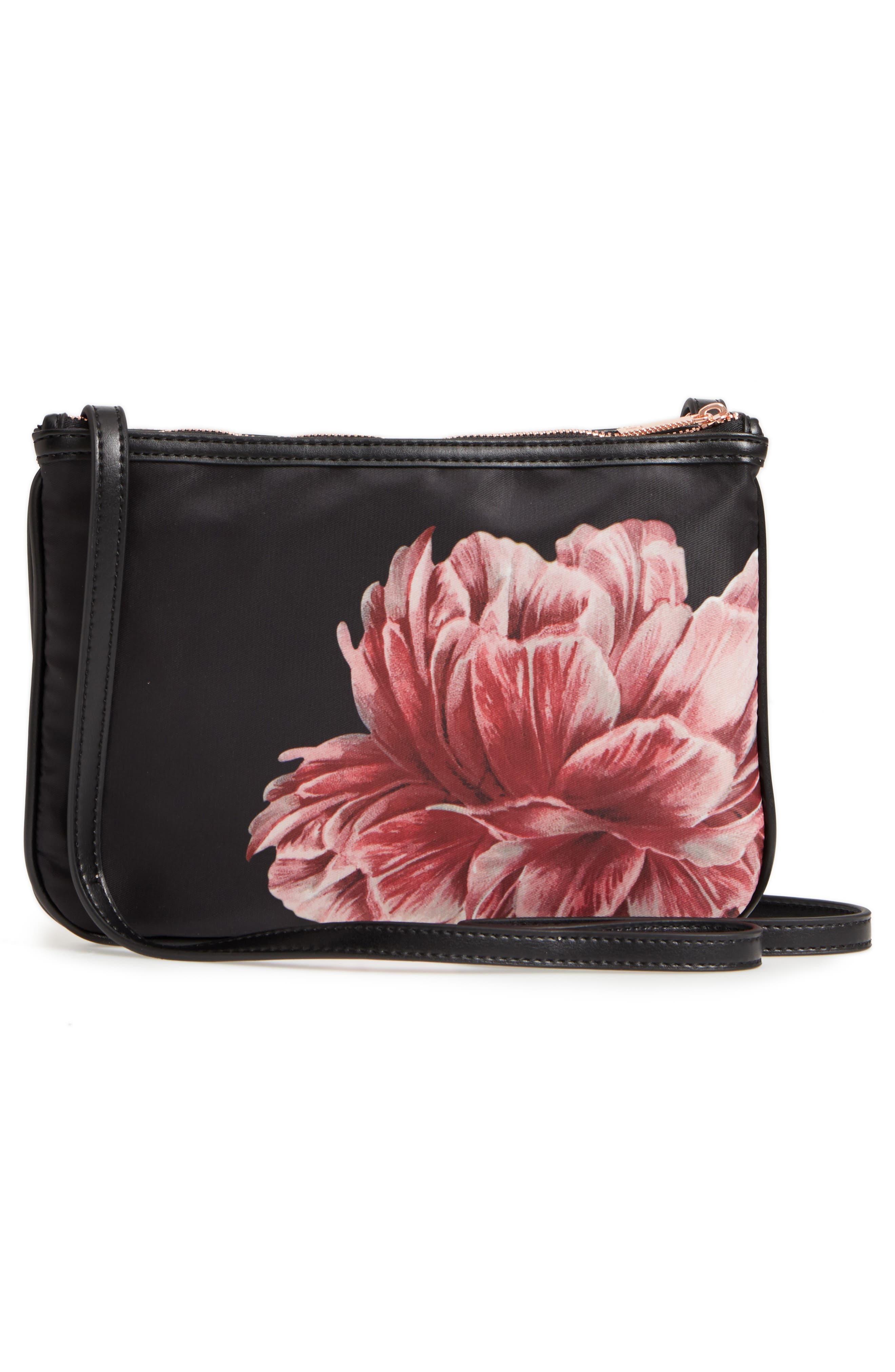 Tranquility Crossbody Bag,                             Alternate thumbnail 3, color,                             BLACK