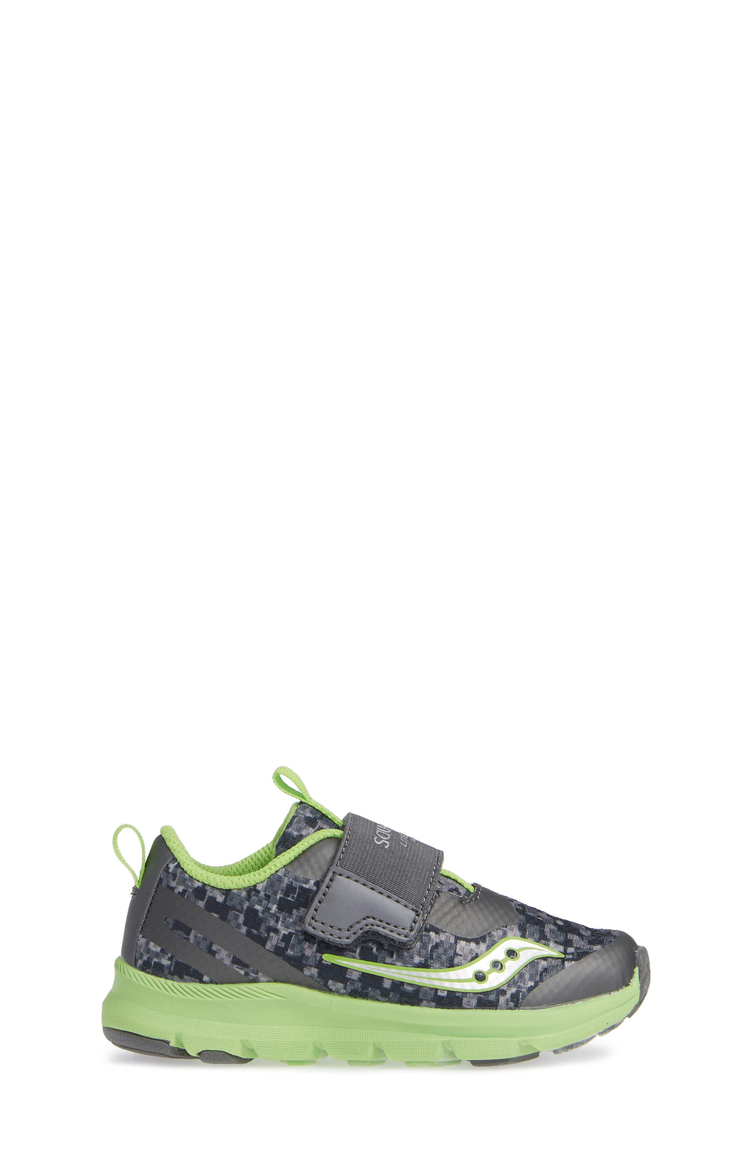 Baby Liteform Sneaker,                             Alternate thumbnail 3, color,                             GREY/ GREEN