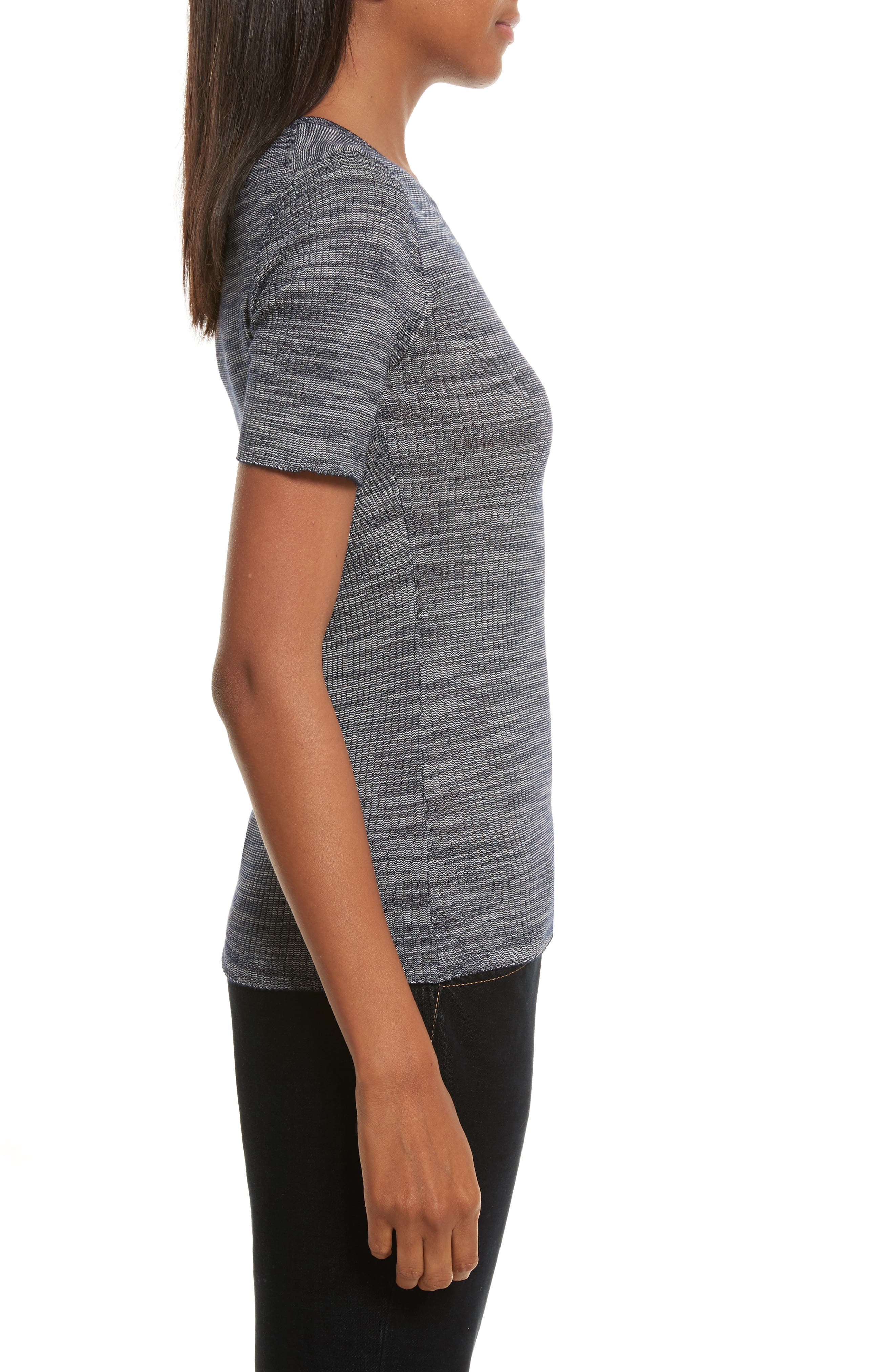 Fitted Merino Wool Blend Sweater,                             Alternate thumbnail 6, color,