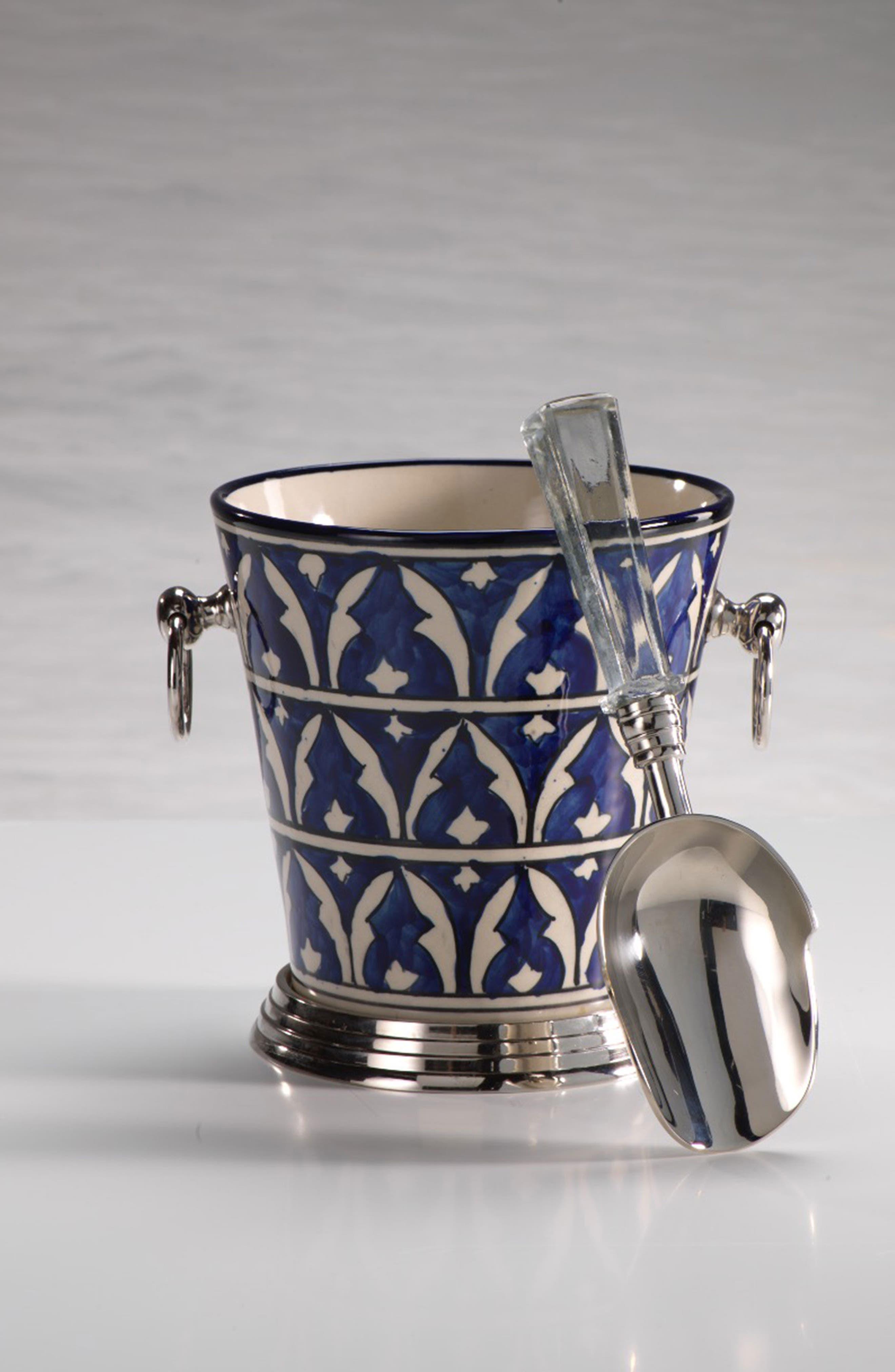 Mazagan Ceramic Ice Bucket,                             Alternate thumbnail 2, color,