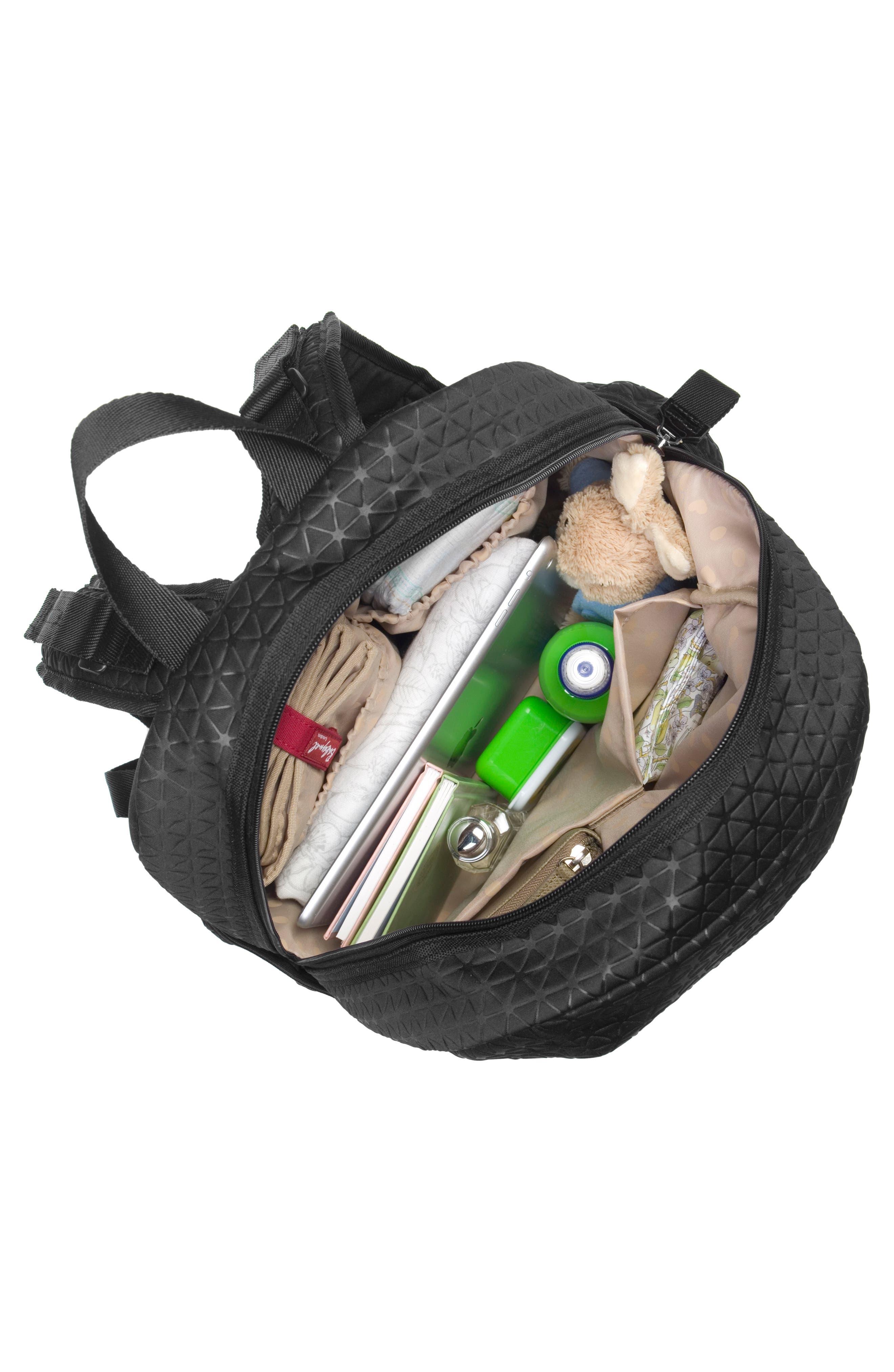 Luna Ultra Lite Diaper Backpack,                             Alternate thumbnail 8, color,                             BLACK