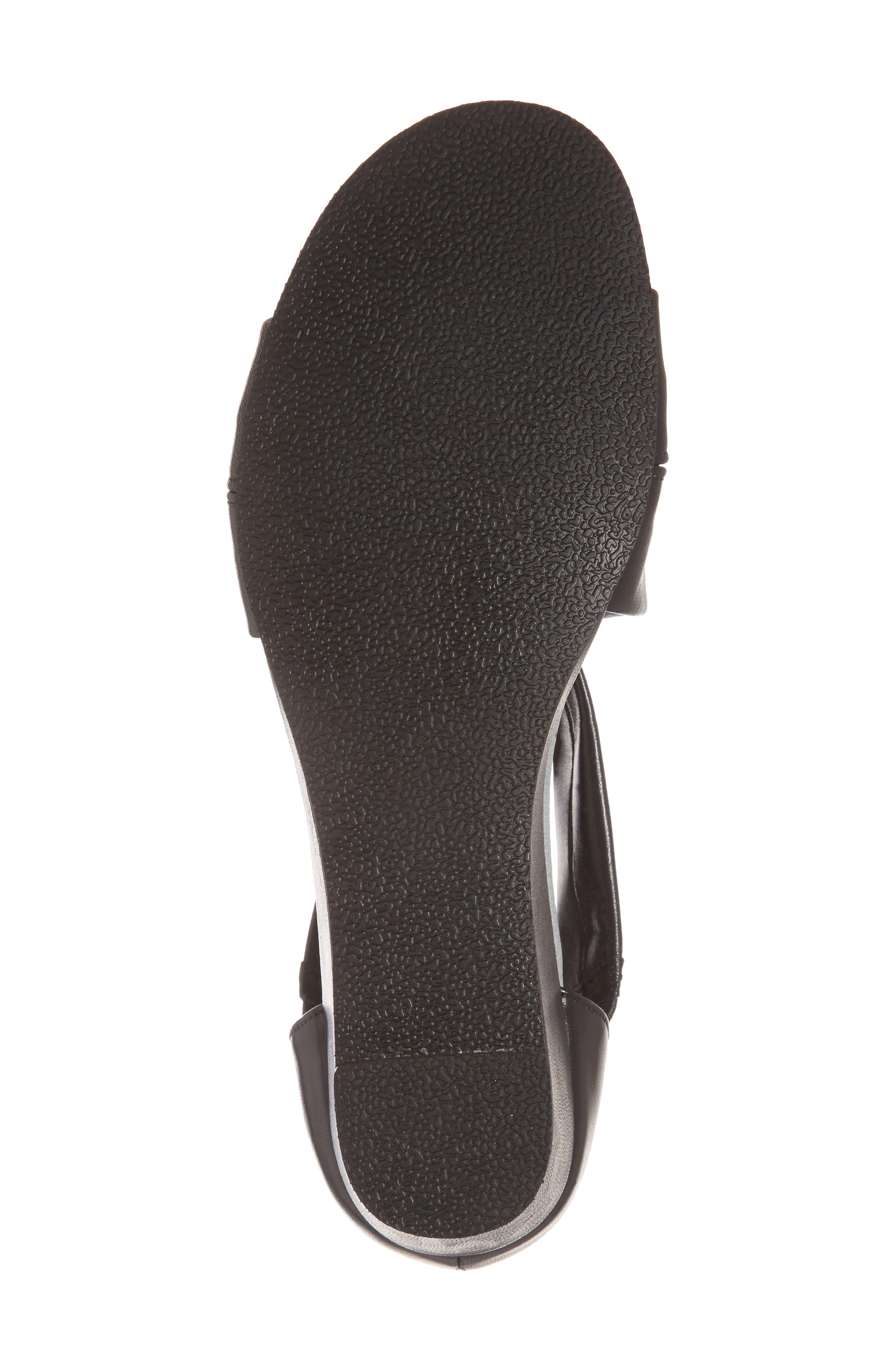 DAVID TATE,                             Swell Cross Strap Wedge Sandal,                             Alternate thumbnail 6, color,                             BLACK LEATHER