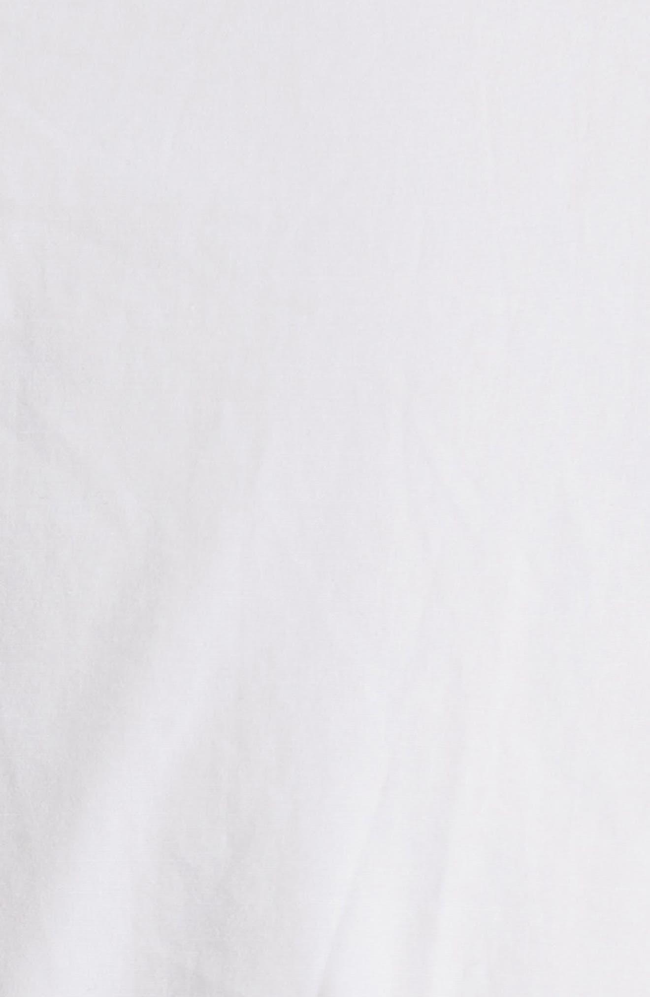 Puff Sleeve Poplin Wrap Blouse,                             Alternate thumbnail 5, color,                             110