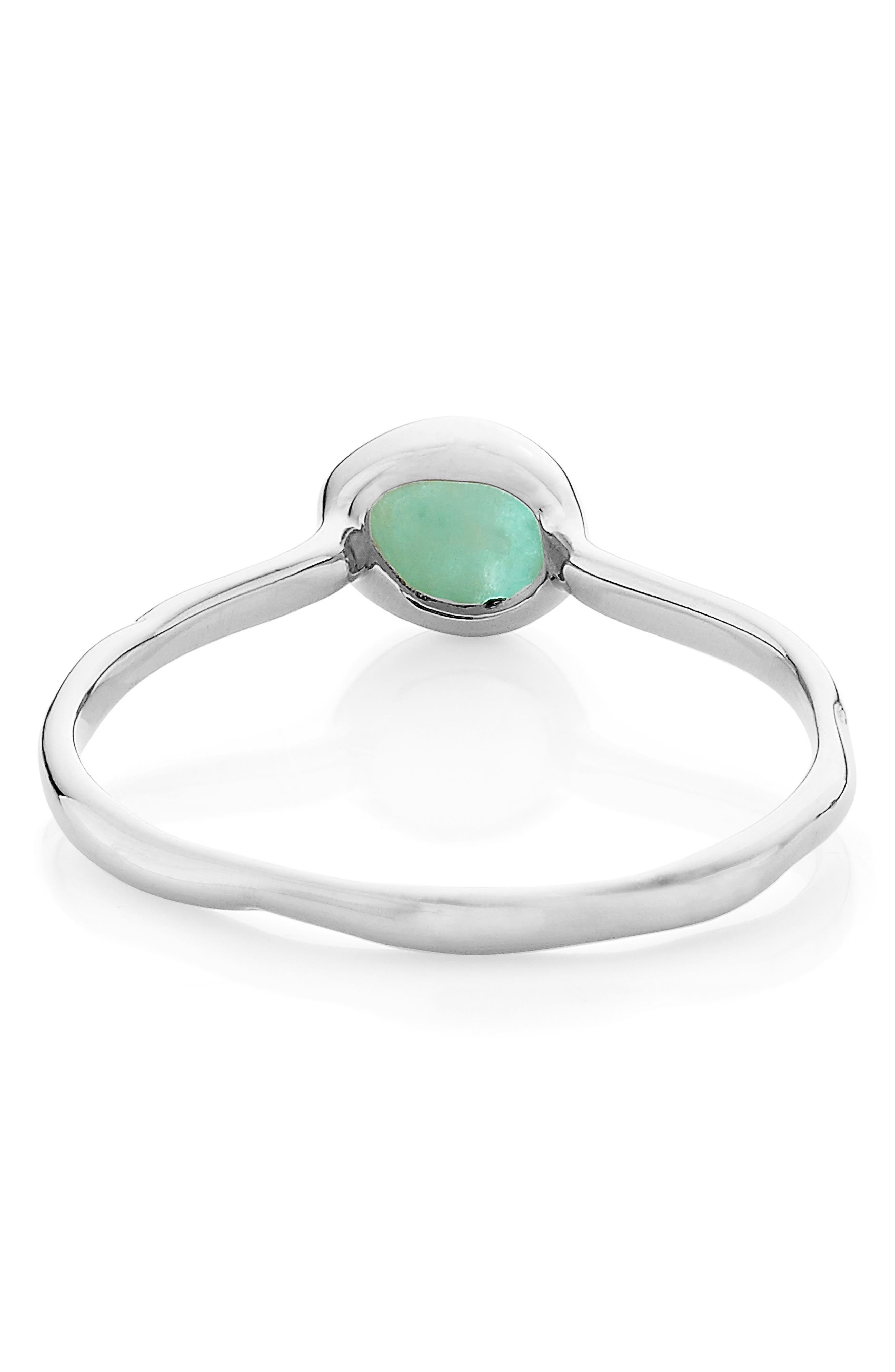 Siren Small Stacking Ring,                             Alternate thumbnail 3, color,                             SILVER/ AMAZONITE