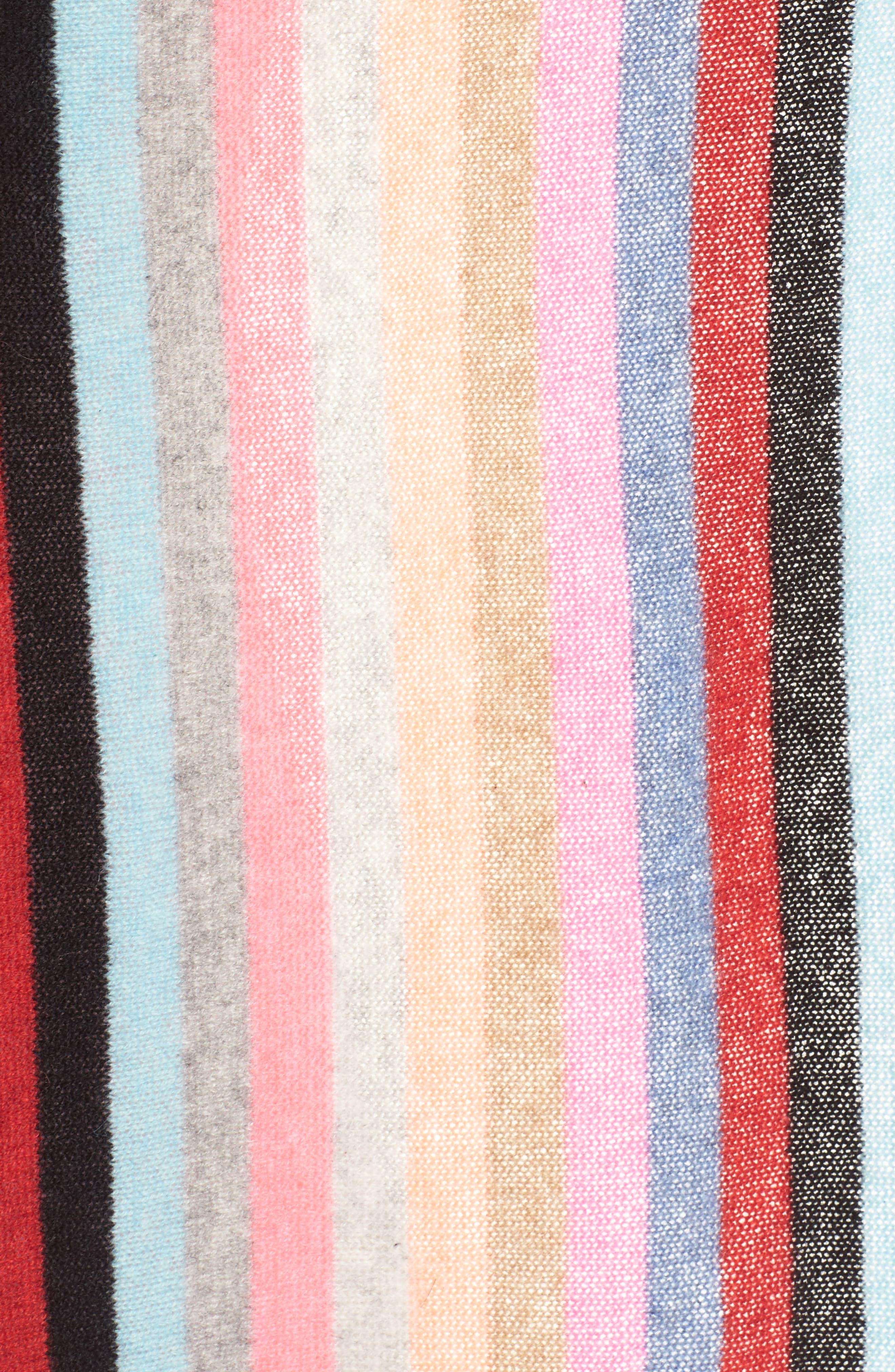 Travel Stripe Cashmere Wrap,                             Alternate thumbnail 6, color,