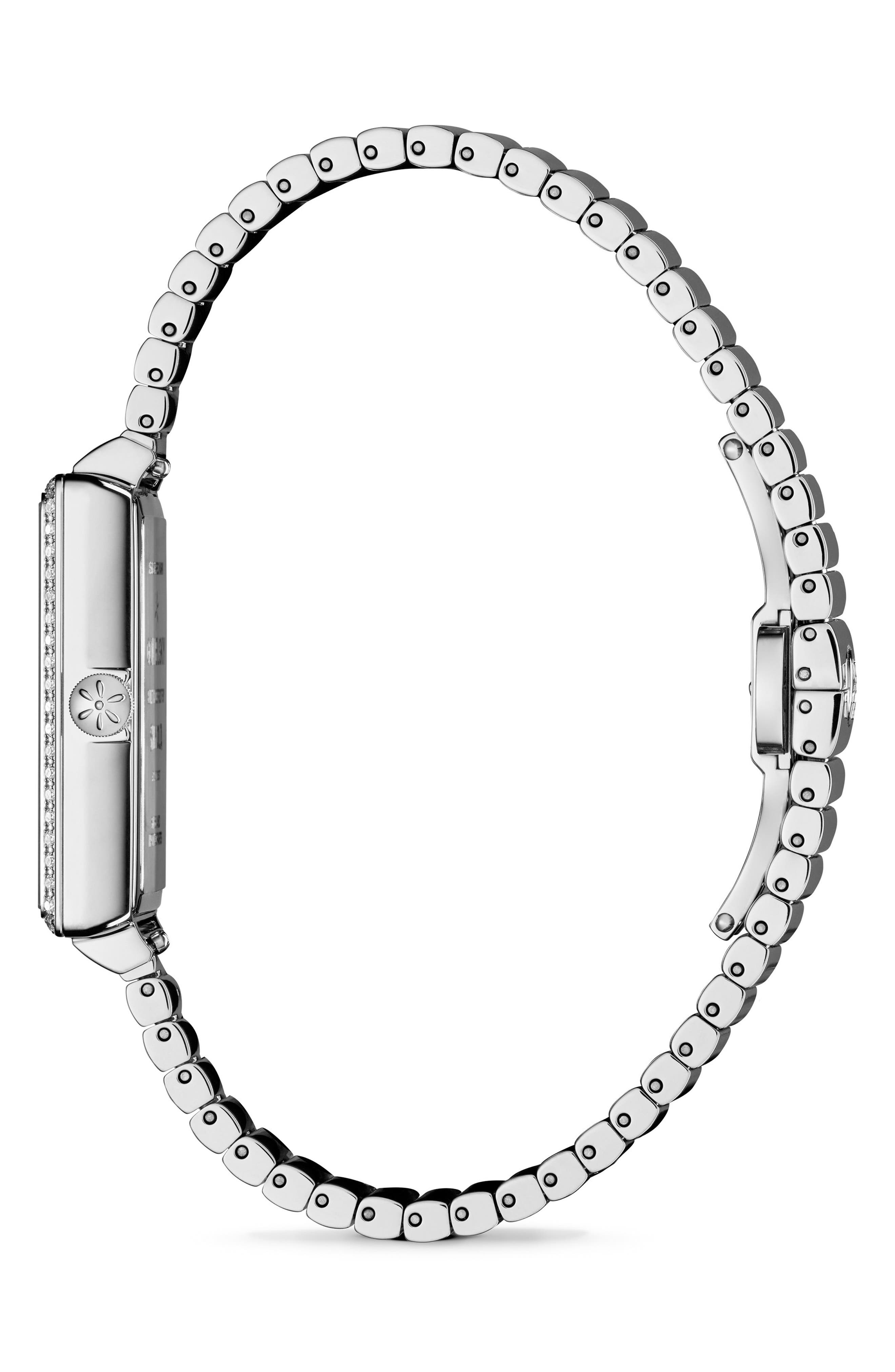 The Shirley Fromer Diamond Bracelet Watch, 32mm x 25mm,                             Alternate thumbnail 3, color,                             SILVER/ MOP/ SILVER
