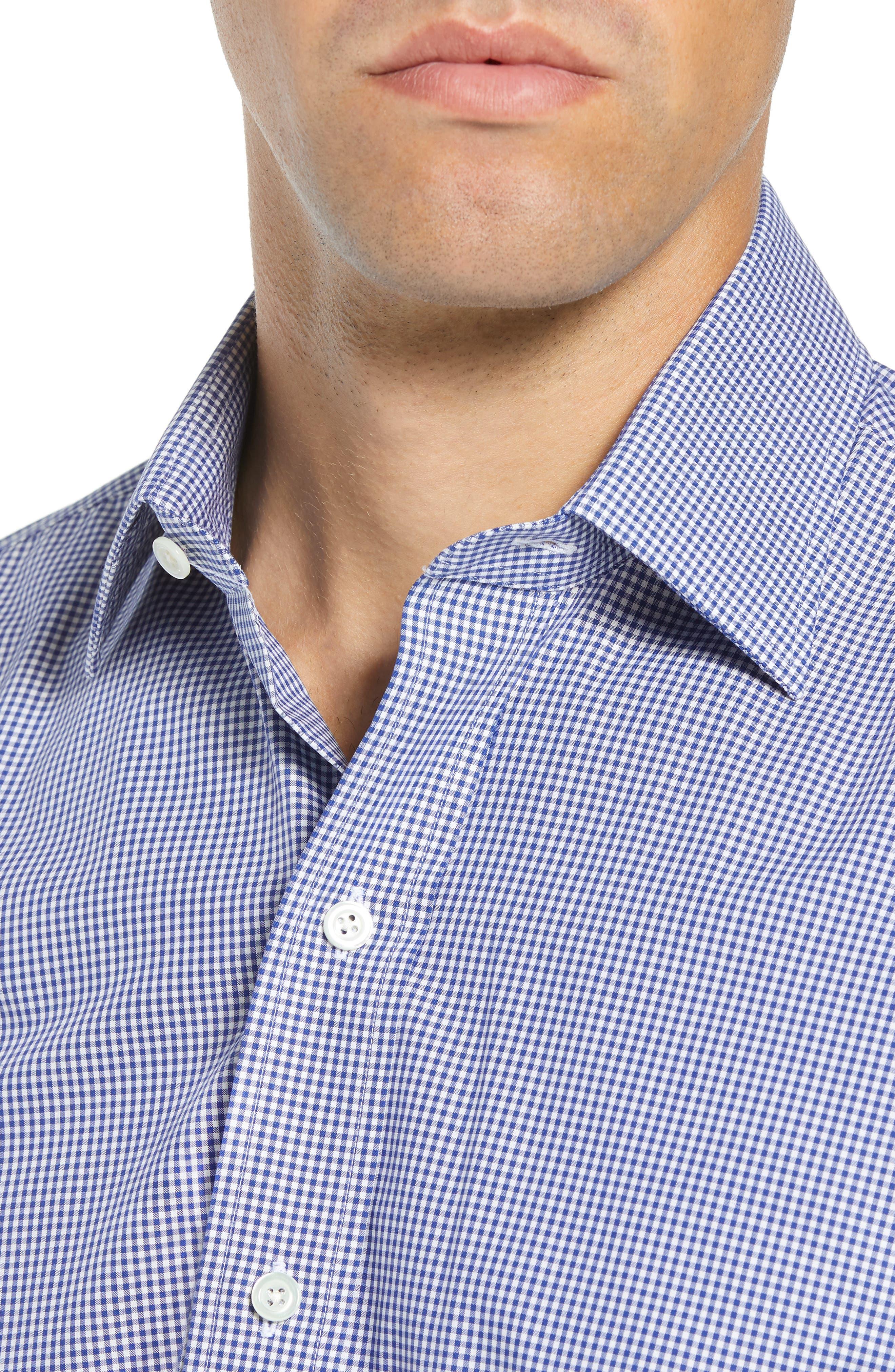 Classic Fit Gingham Dress Shirt,                             Alternate thumbnail 2, color,                             420