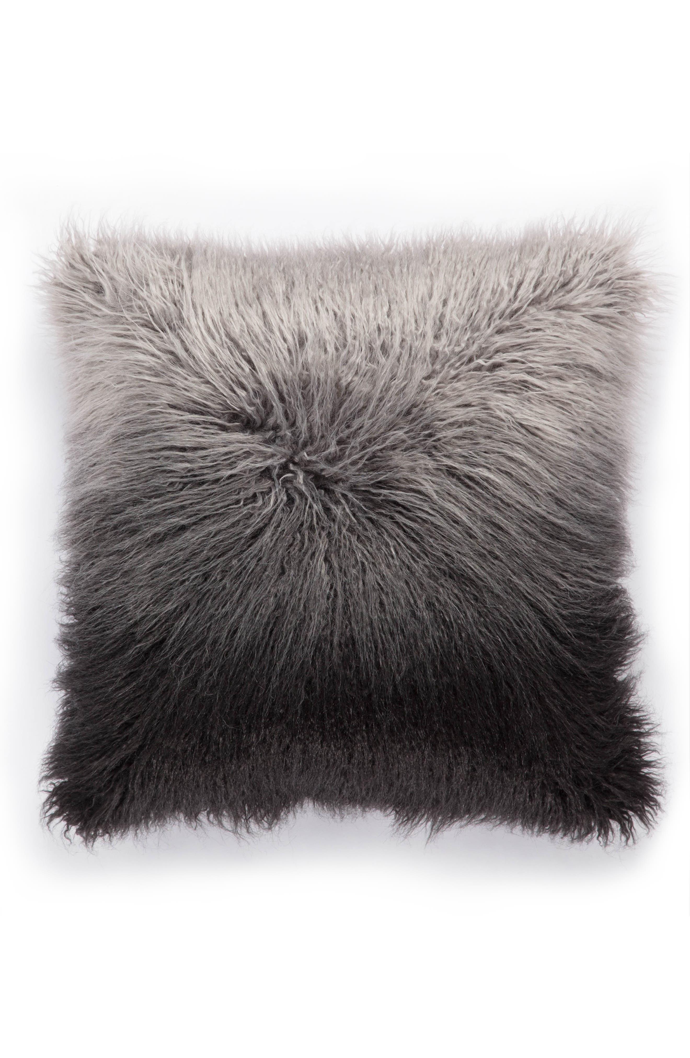 Mahal Faux Fur Accent Pillow,                             Main thumbnail 1, color,                             020