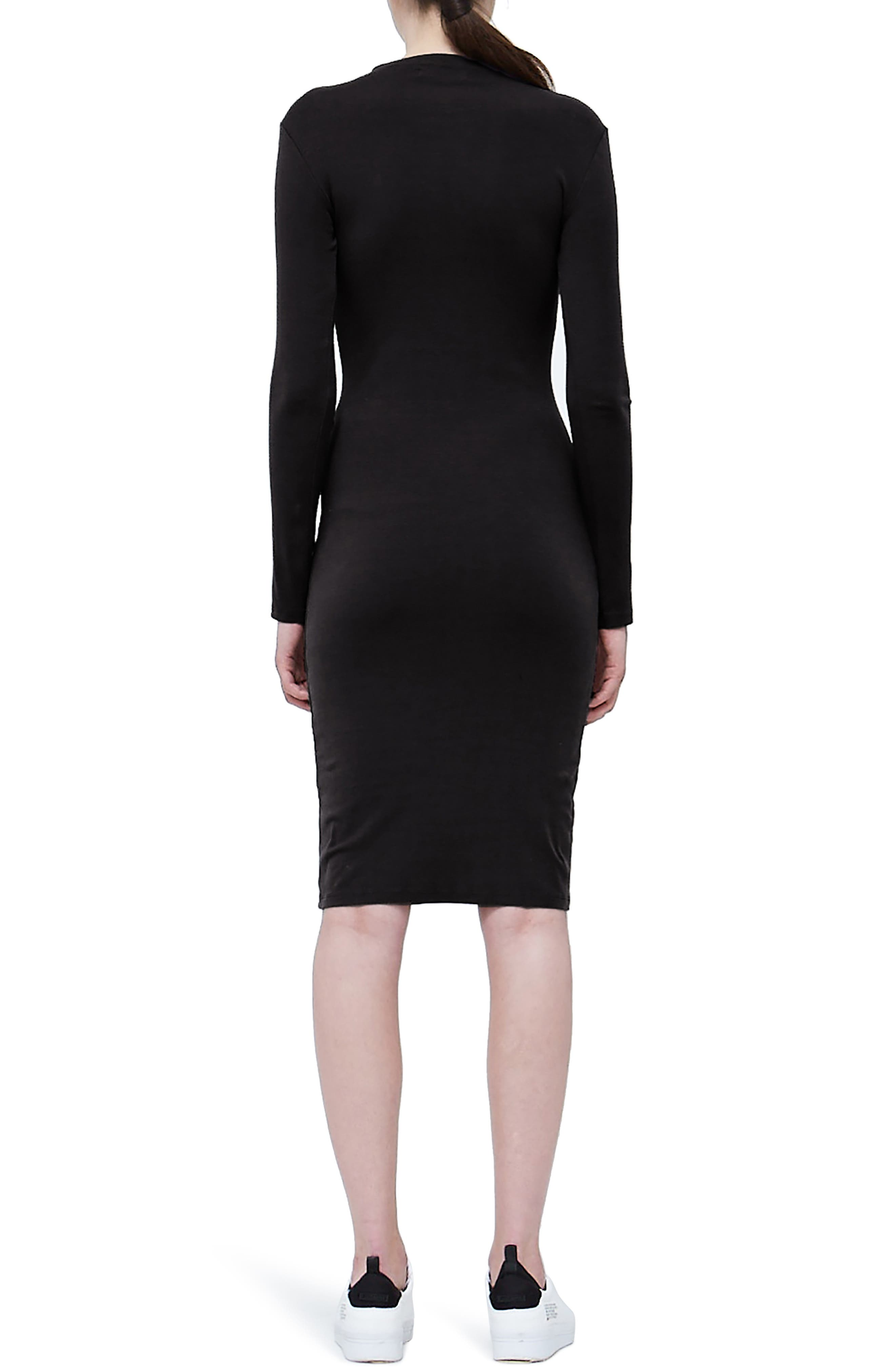 Mock Neck Dress,                             Alternate thumbnail 2, color,                             001