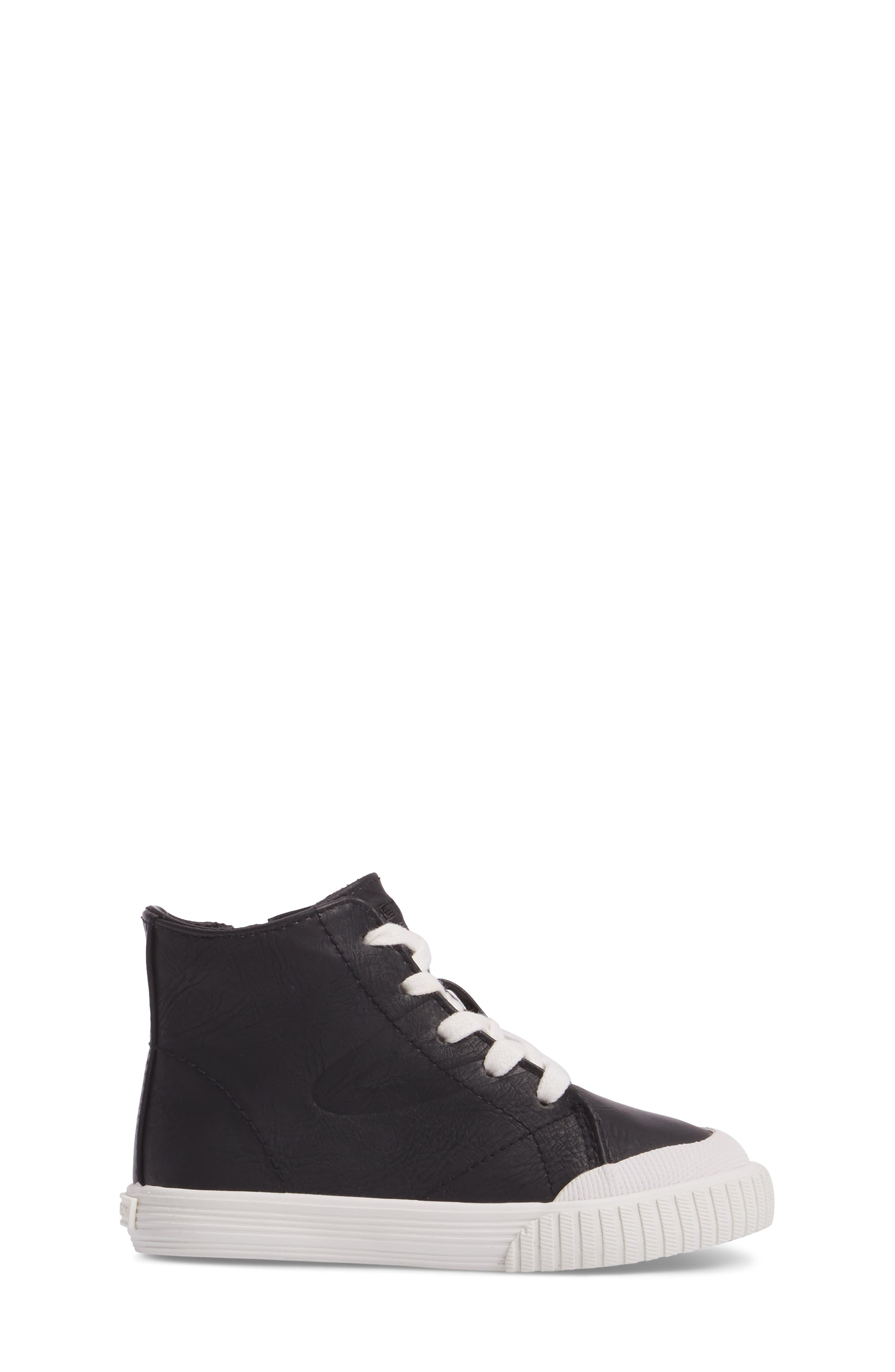 Marley High Top Sneaker,                             Alternate thumbnail 3, color,                             001