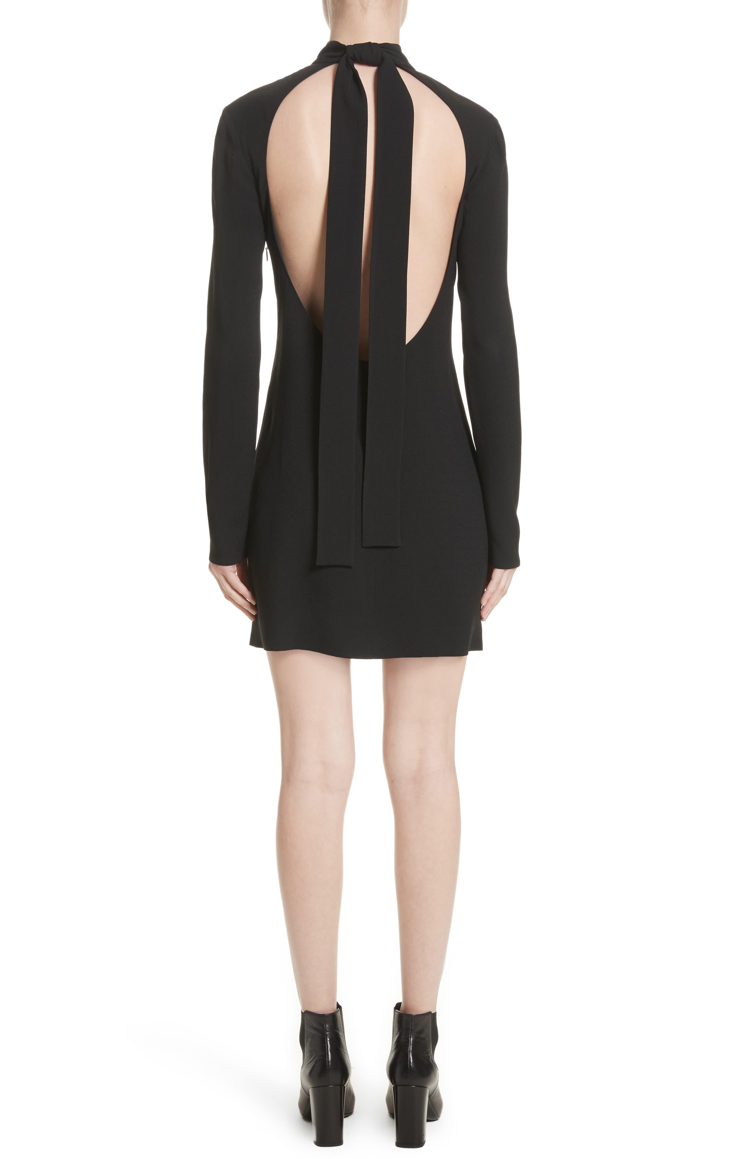 Open Back Mini Dress,                             Alternate thumbnail 2, color,                             001
