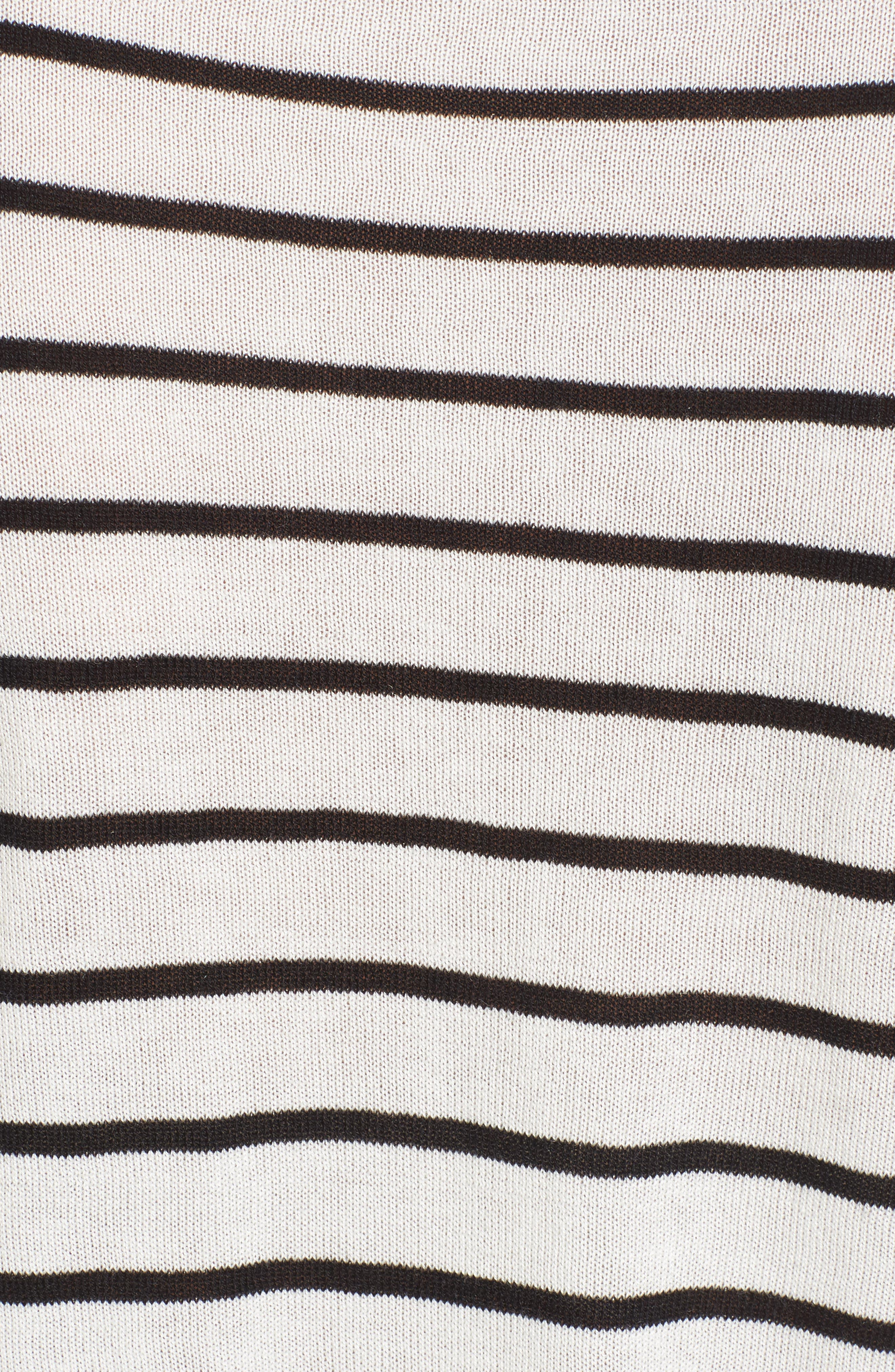 Trapeze Fit Stripe Sweater,                             Alternate thumbnail 5, color,                             907