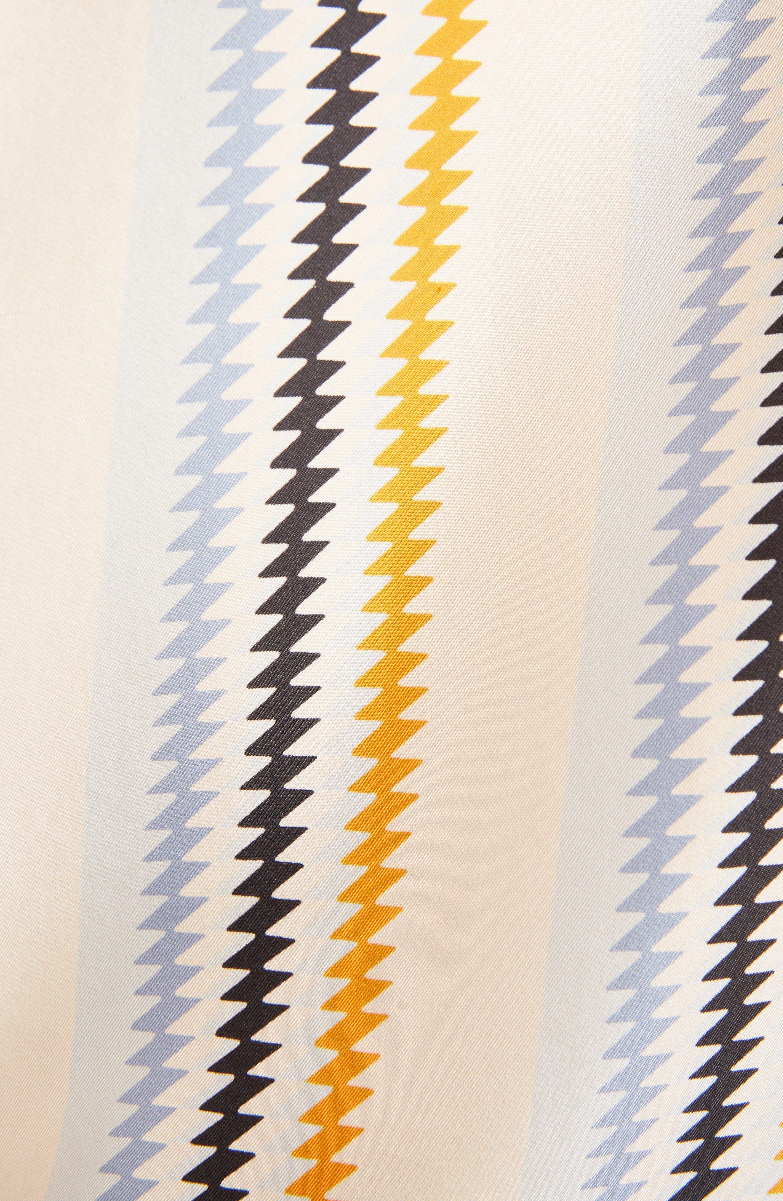 Fluid Stripe Silk Shirt,                             Alternate thumbnail 5, color,                             700