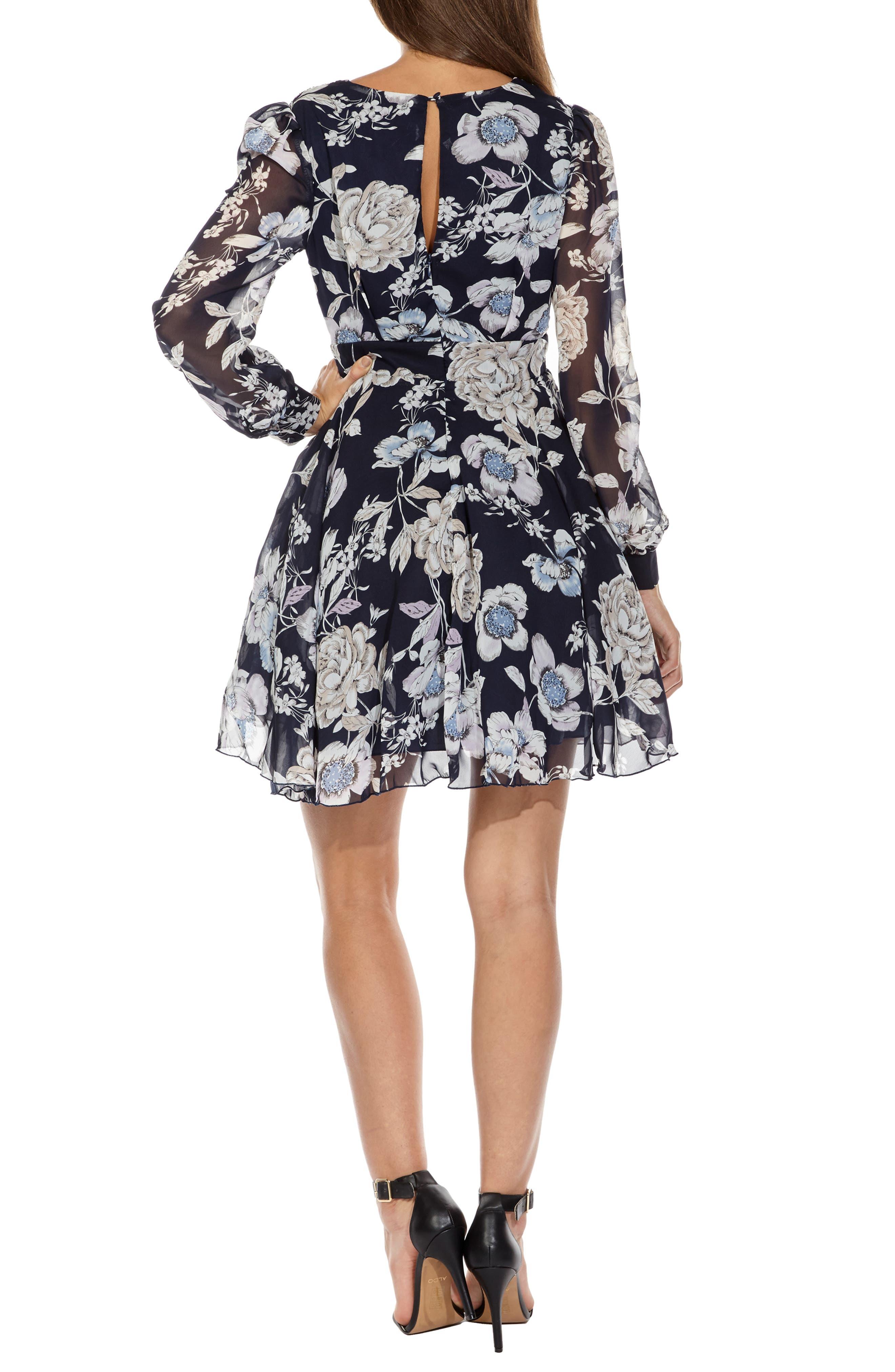 Nordi Floral Fit & Flare Party Dress,                             Alternate thumbnail 2, color,                             FLORAL PRINT