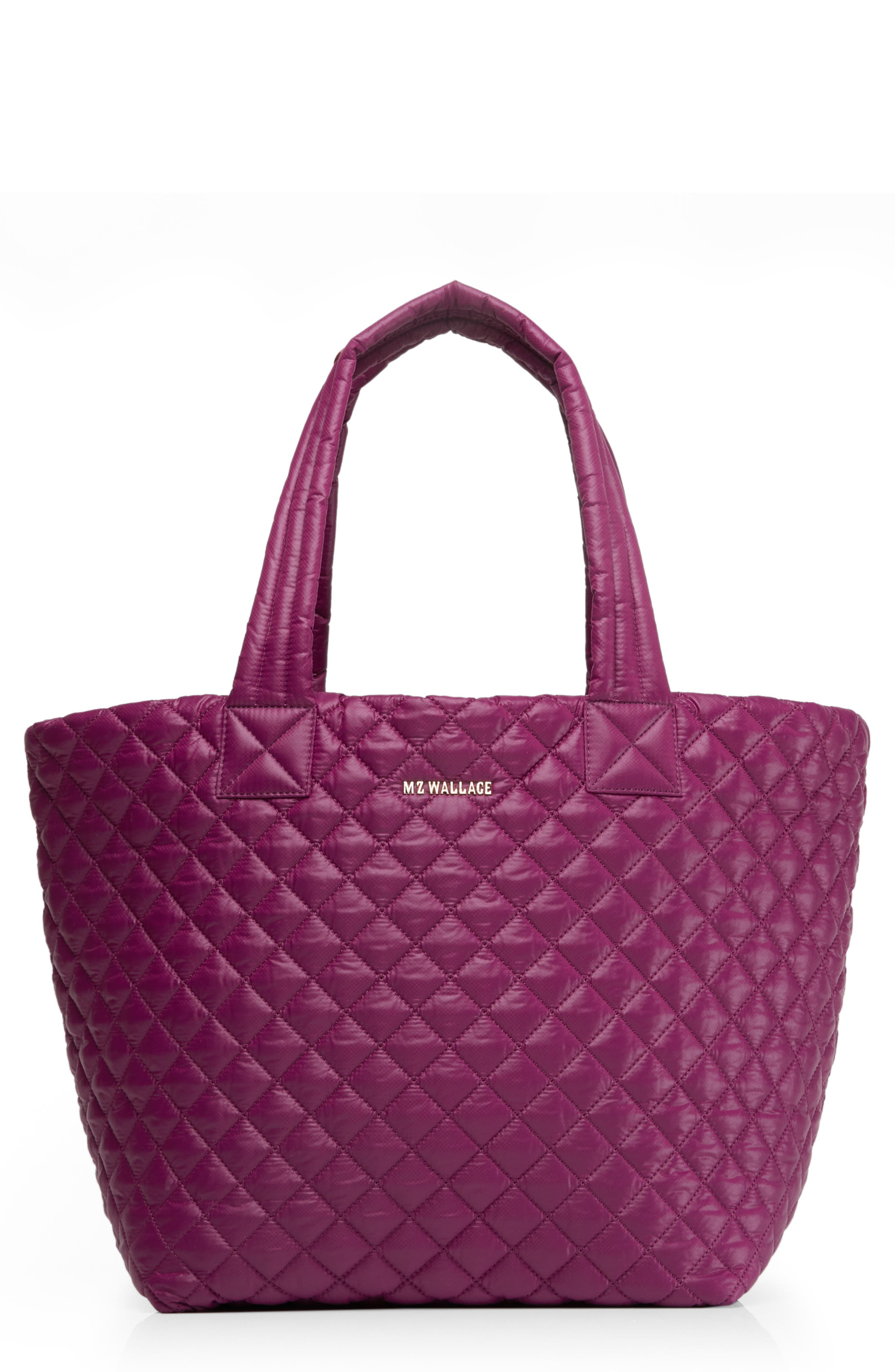 'Medium Metro' Quilted Tote,                             Main thumbnail 1, color,                             ELDERBERRY