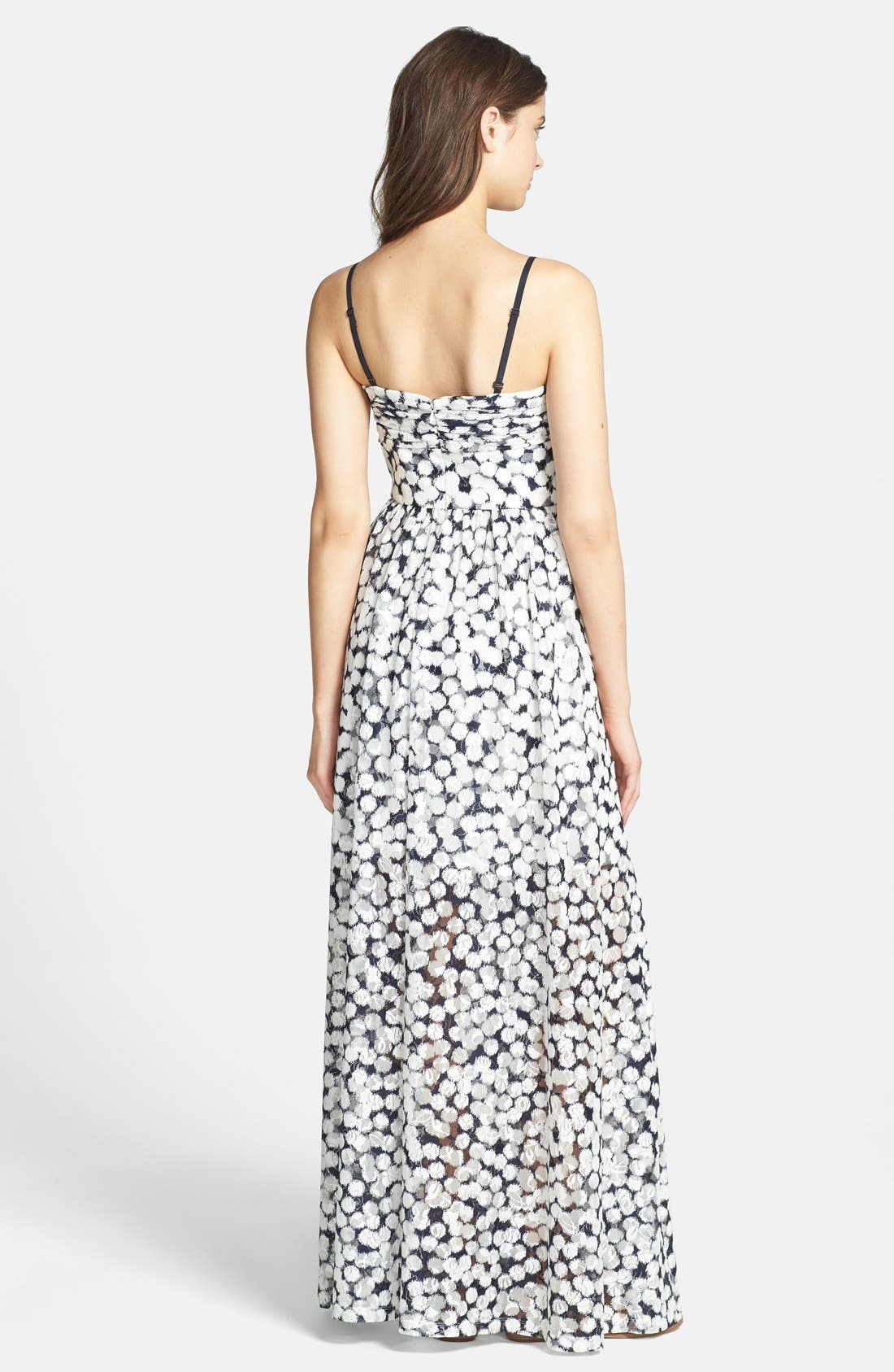 Print Knit Maxi Dress,                             Alternate thumbnail 3, color,                             480