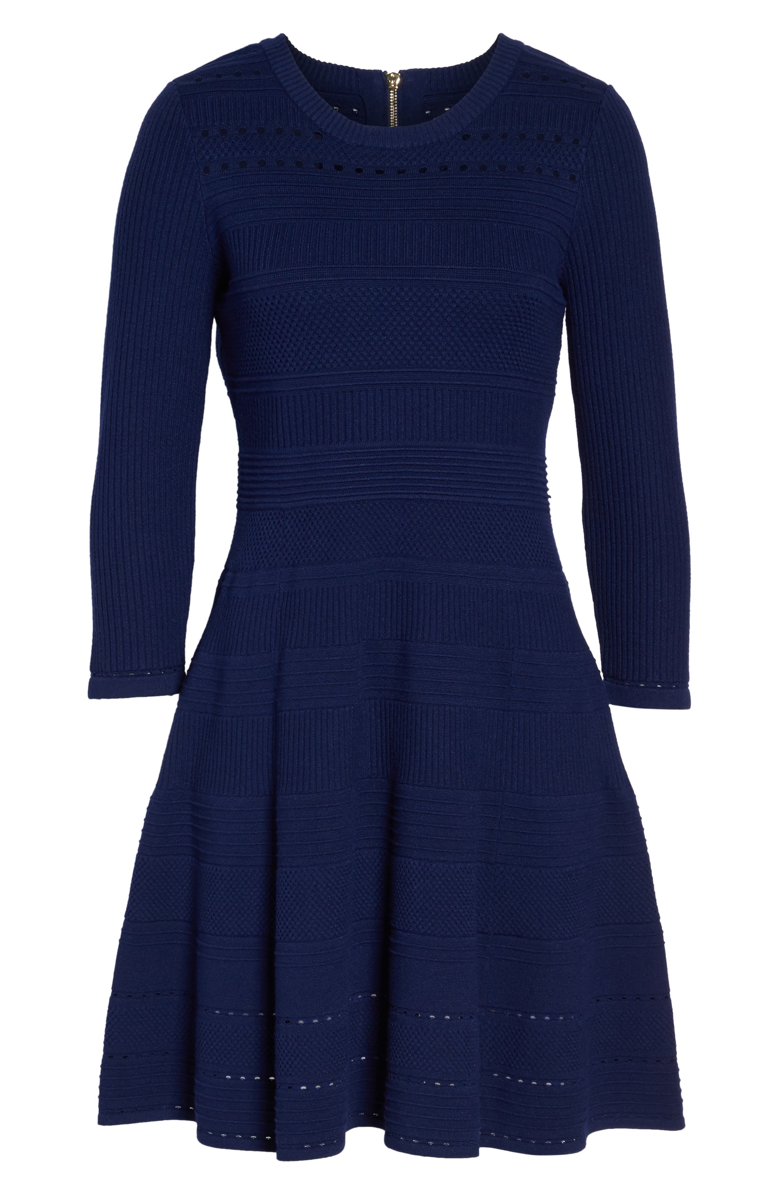 Fit & Flare Sweater Dress,                             Alternate thumbnail 23, color,