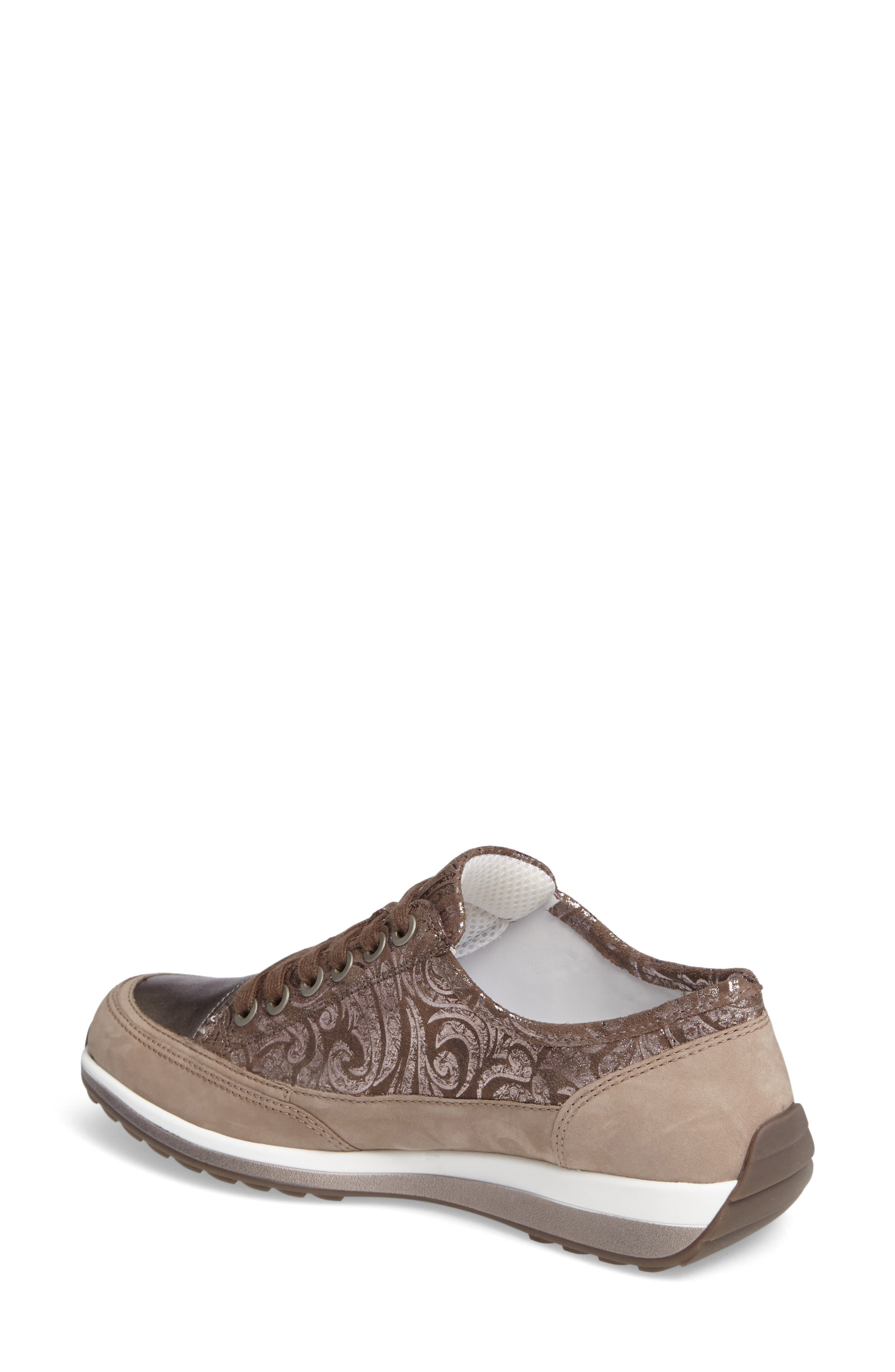 Hermione Sneaker,                             Alternate thumbnail 2, color,                             TAUPE COMBO LEATHER