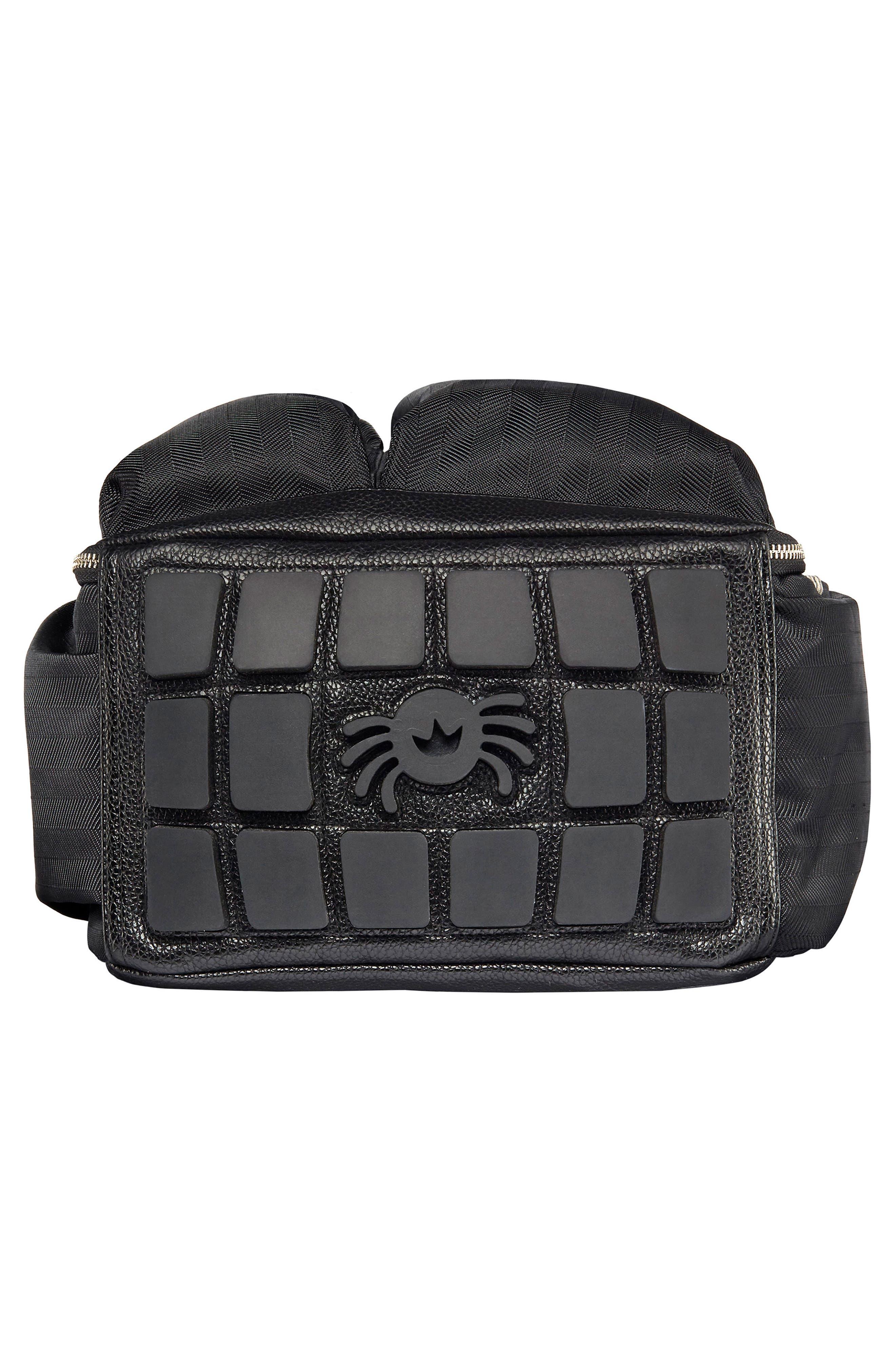 Diaper Bag Backpack,                             Alternate thumbnail 5, color,                             BLACK HERRINGBONE