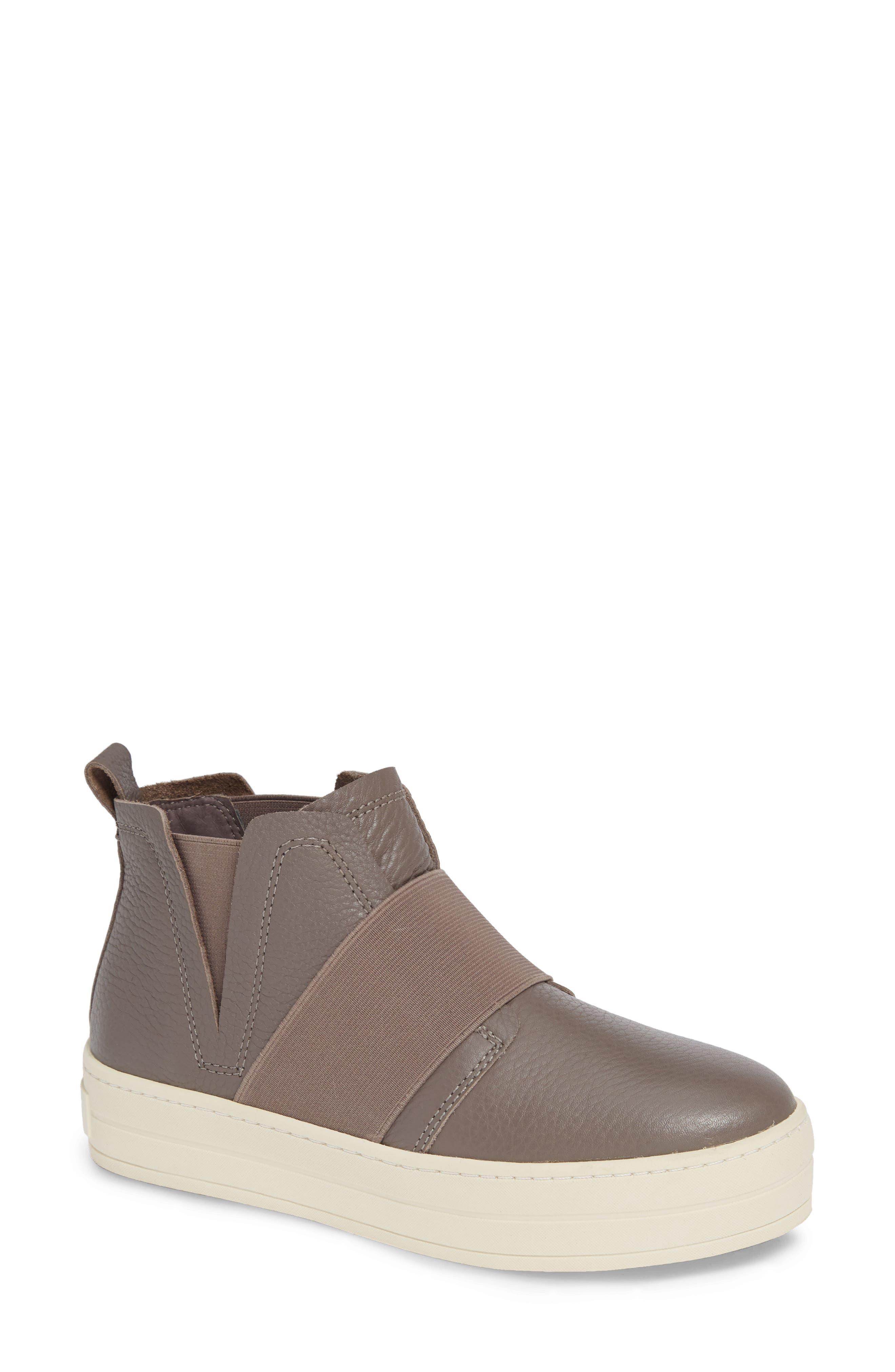 Jslides Holland High Top Platform Sneaker, Beige