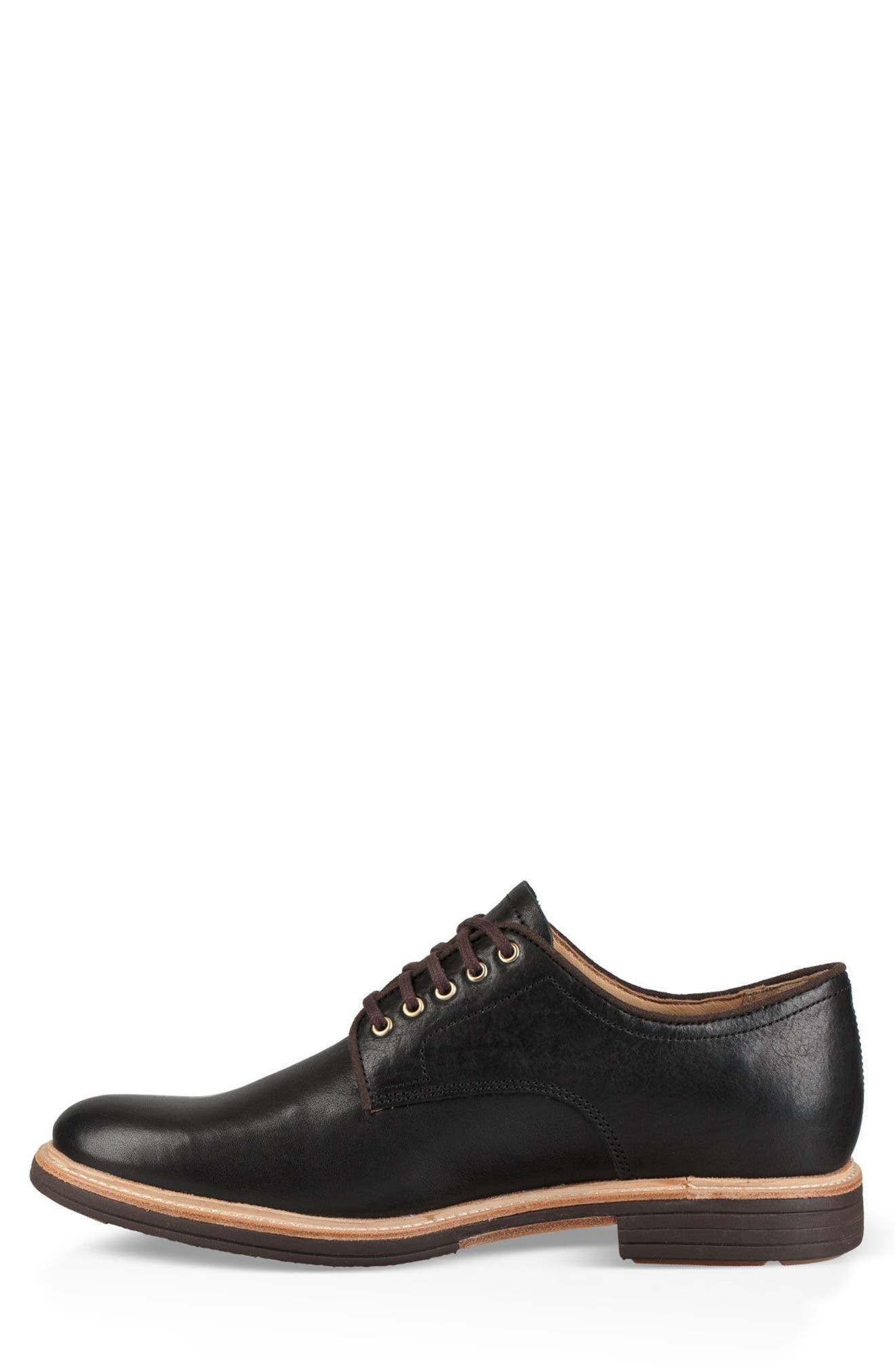 Jovin Buck Shoe,                             Alternate thumbnail 3, color,                             BLACK LEATHER/SUEDE