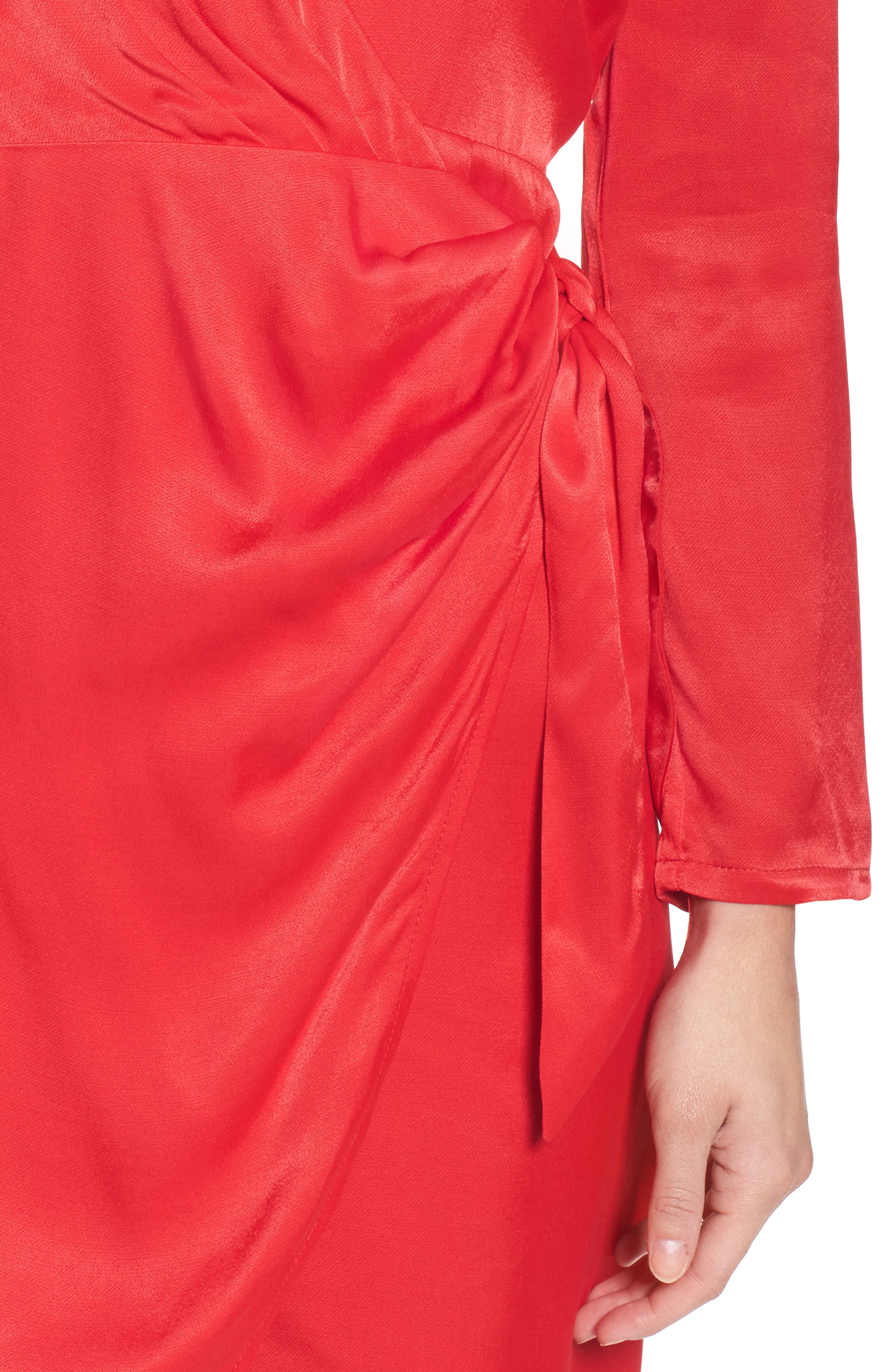 Satin Wrap Dress,                             Alternate thumbnail 4, color,                             622