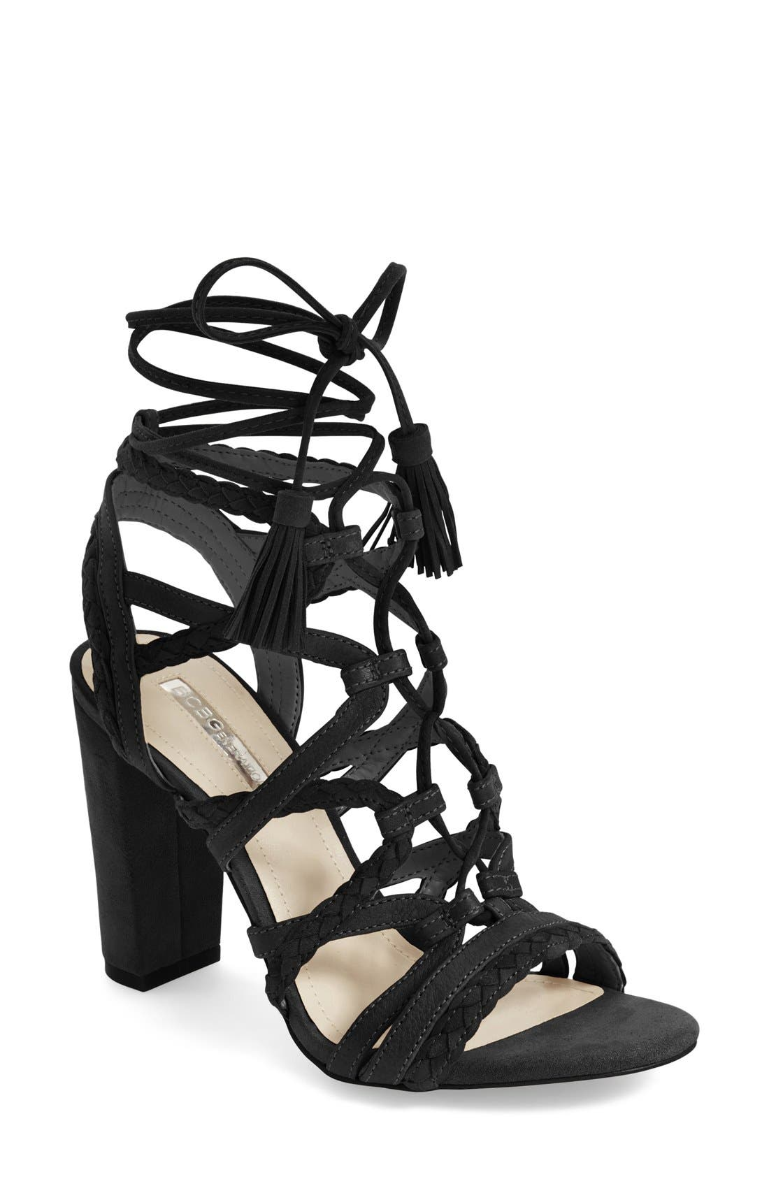 'Ronny' Lace-Up Sandal, Main, color, 001