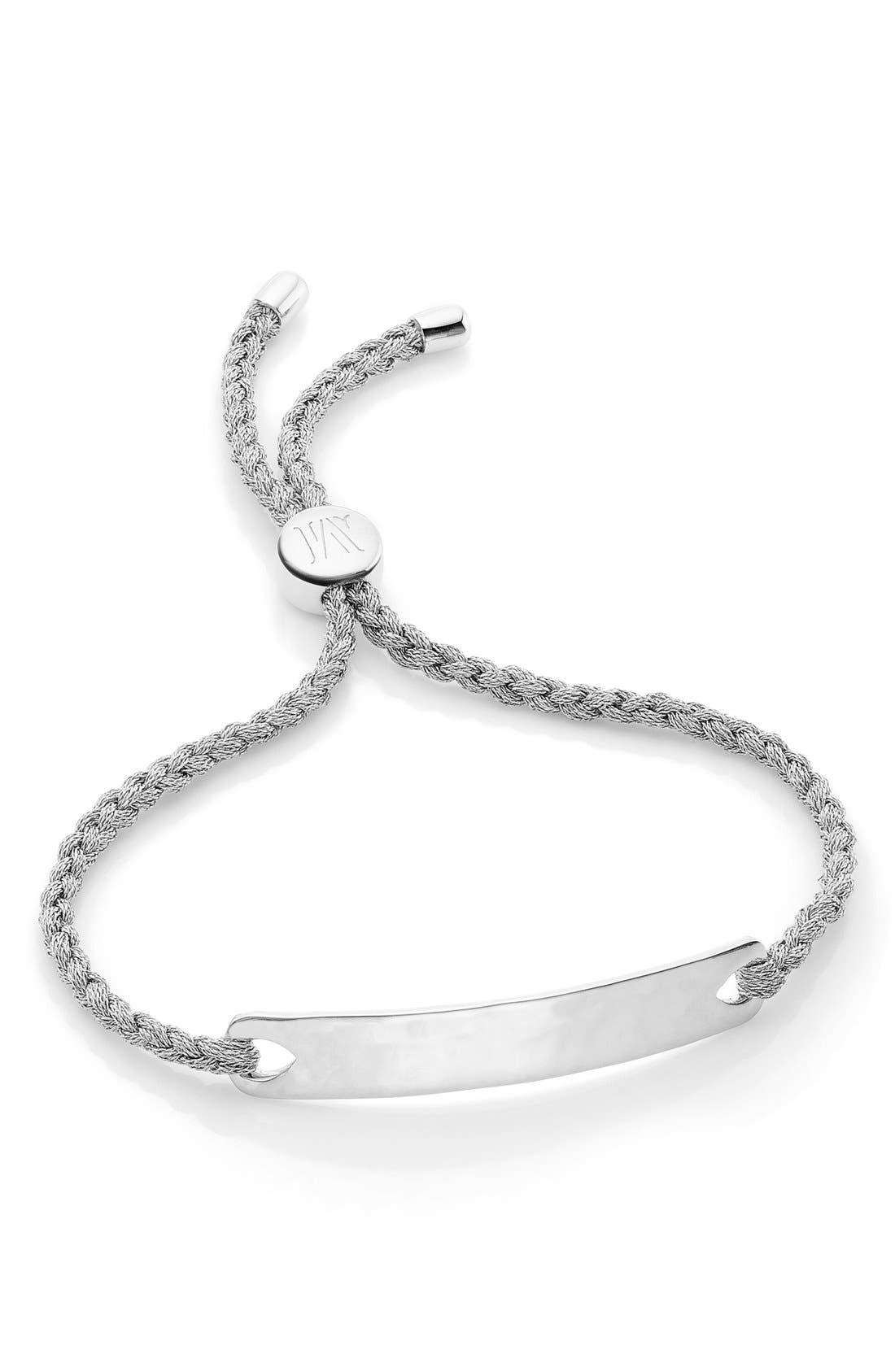 Engravable HavanaFriendship Bracelet,                         Main,                         color, SILVER/ SILVER