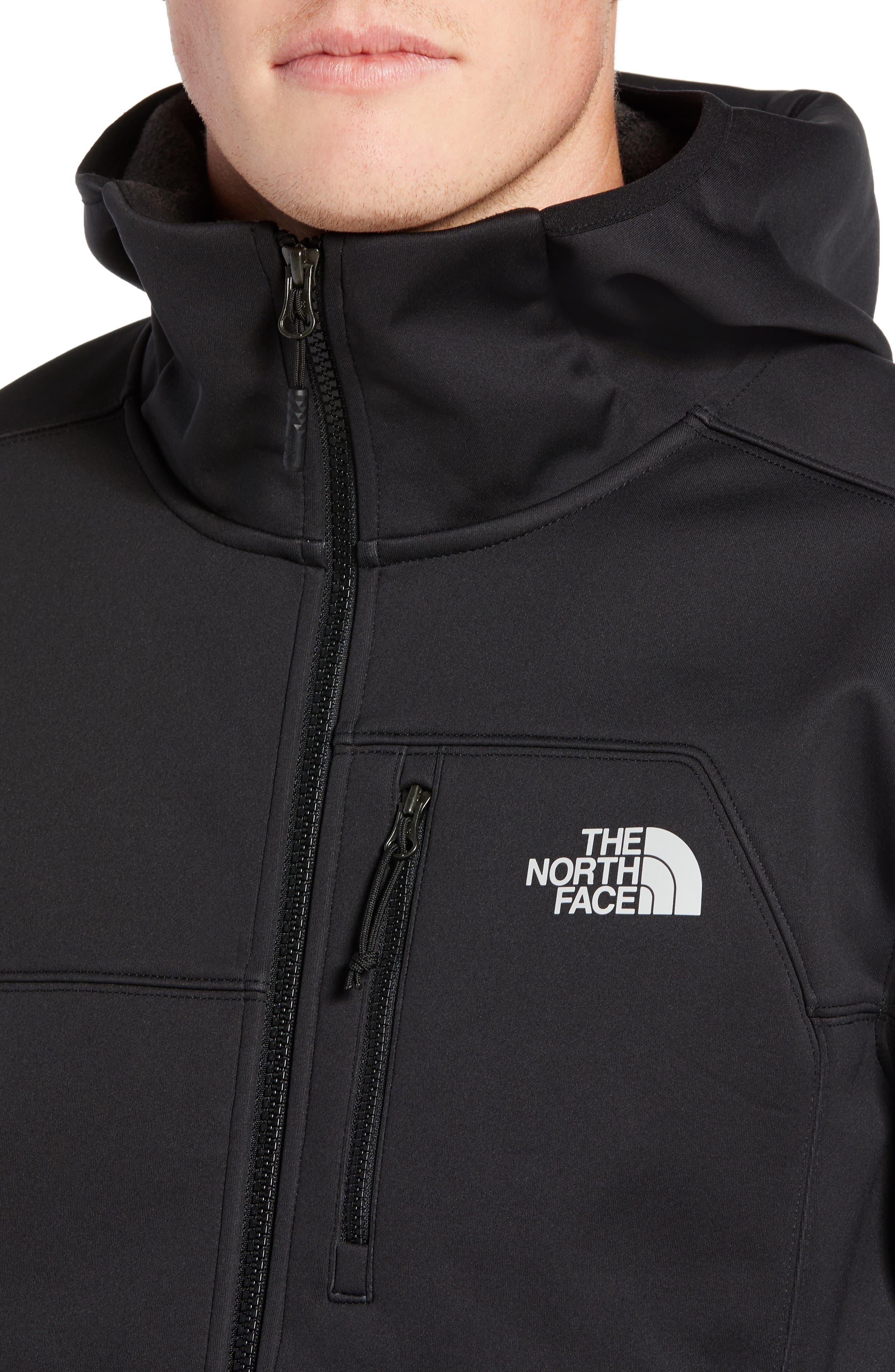 North Face Apex Risor Hooded Jacket,                             Alternate thumbnail 4, color,                             TNF BLACK/ TNF BLACK