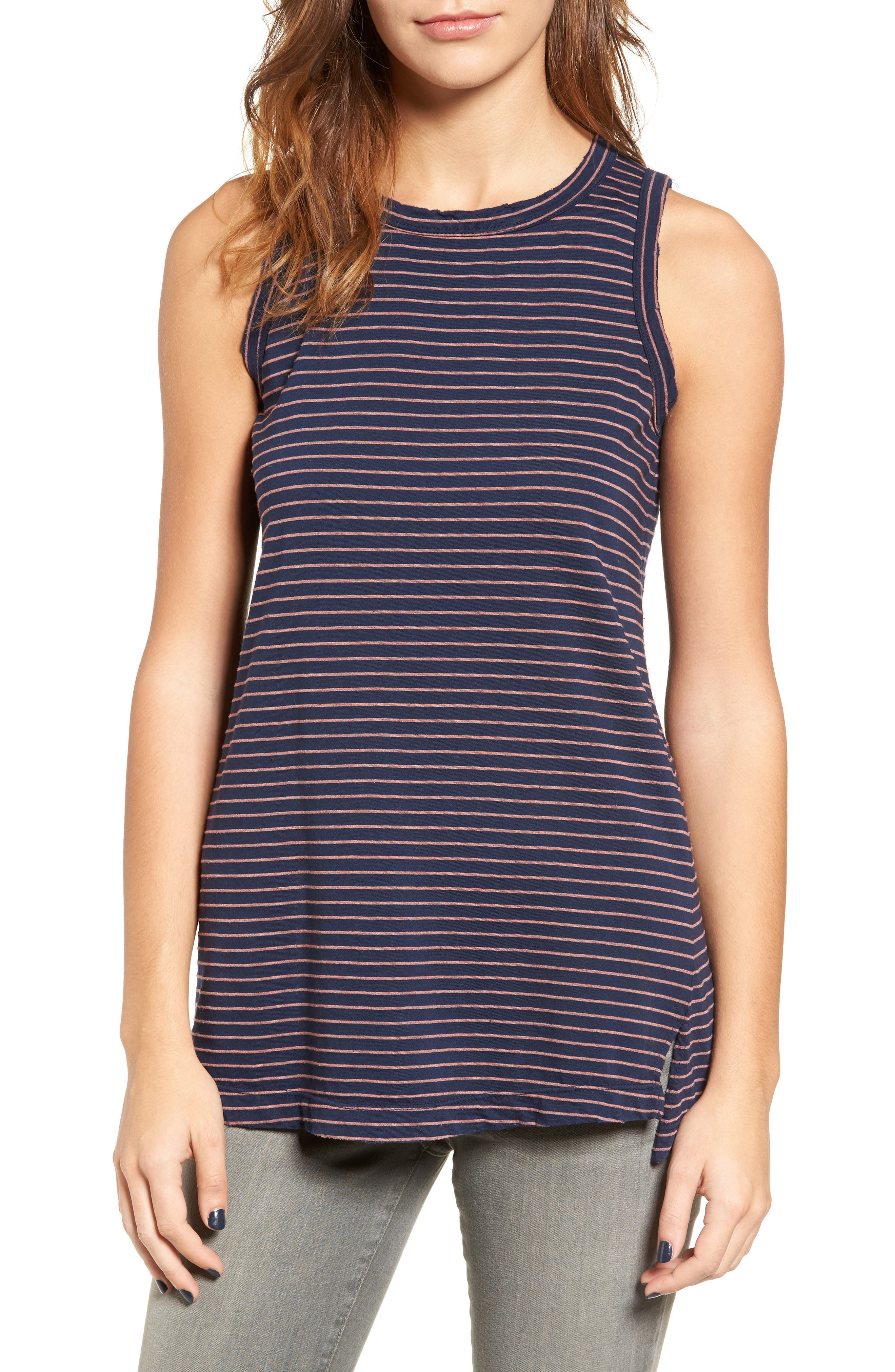 The Muscle Tee Stripe Tank,                         Main,                         color, 408