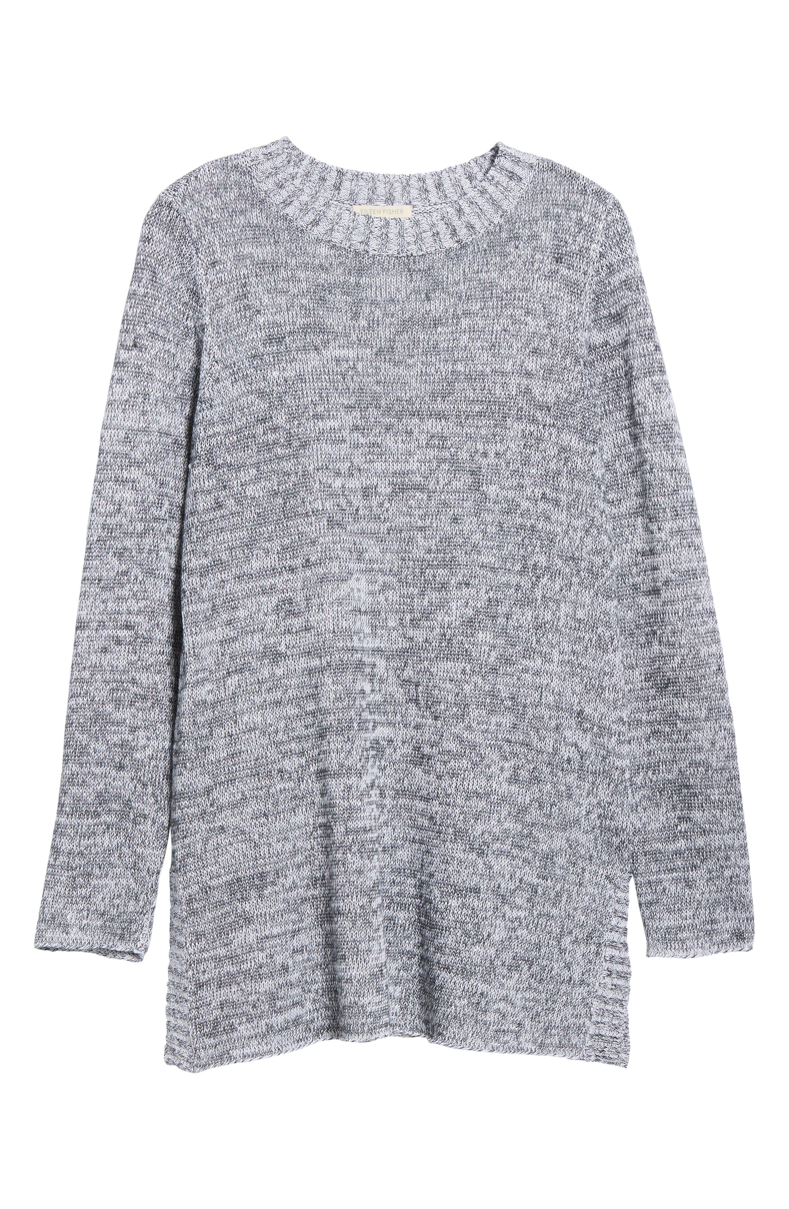 Organic Linen Crewneck Sweater,                             Alternate thumbnail 6, color,