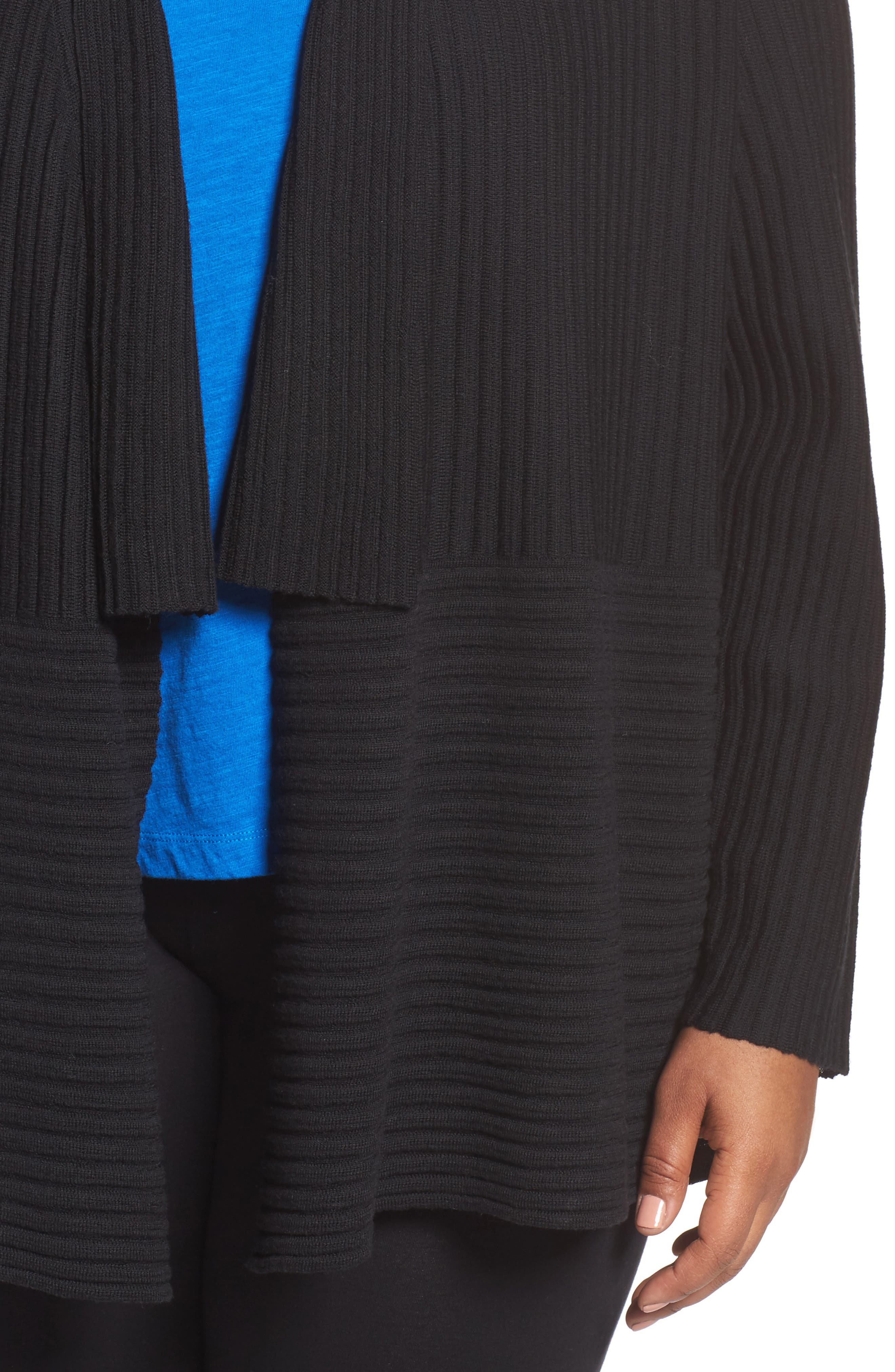Ribbed Merino Wool Long Cardigan,                             Alternate thumbnail 13, color,