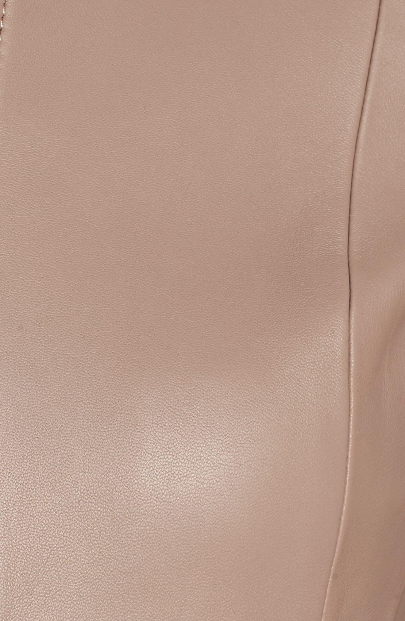 Sammonaie Leather Jacket,                             Alternate thumbnail 9, color,