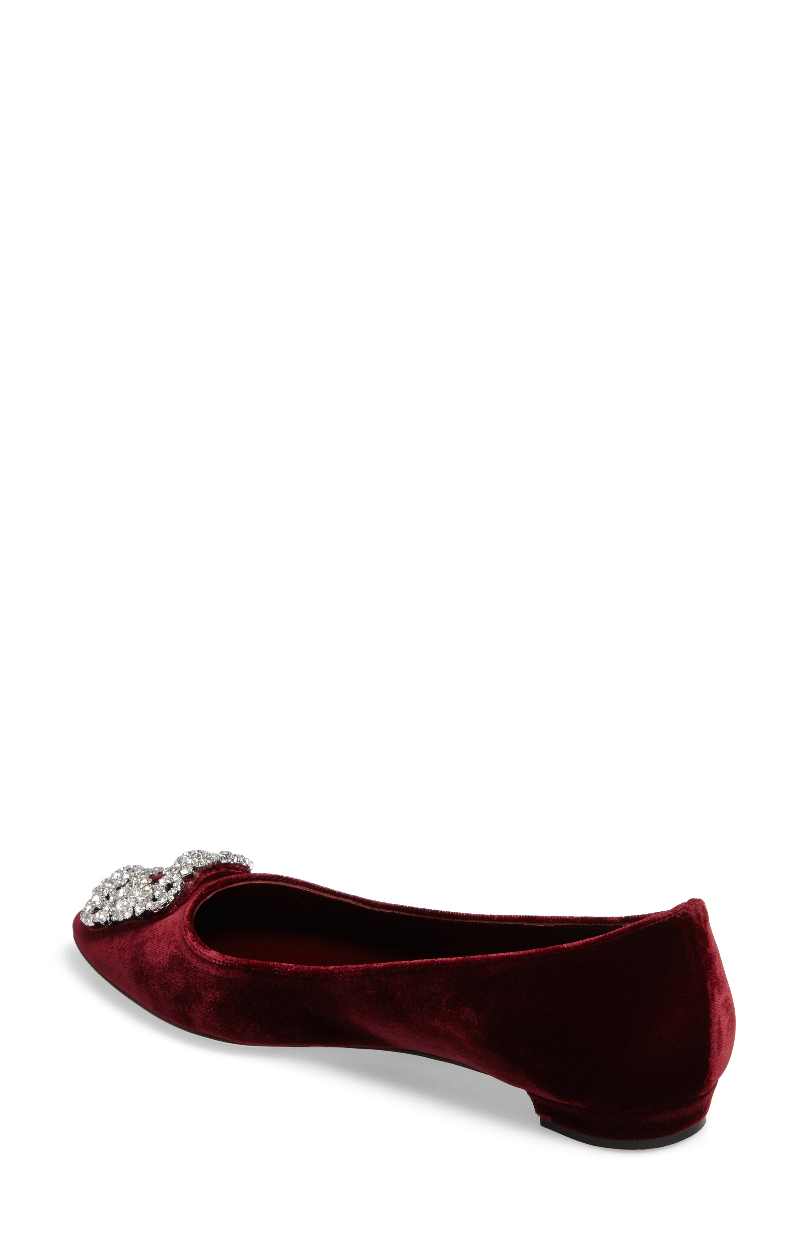 Hangisi Pointy Toe Flat,                             Alternate thumbnail 4, color,