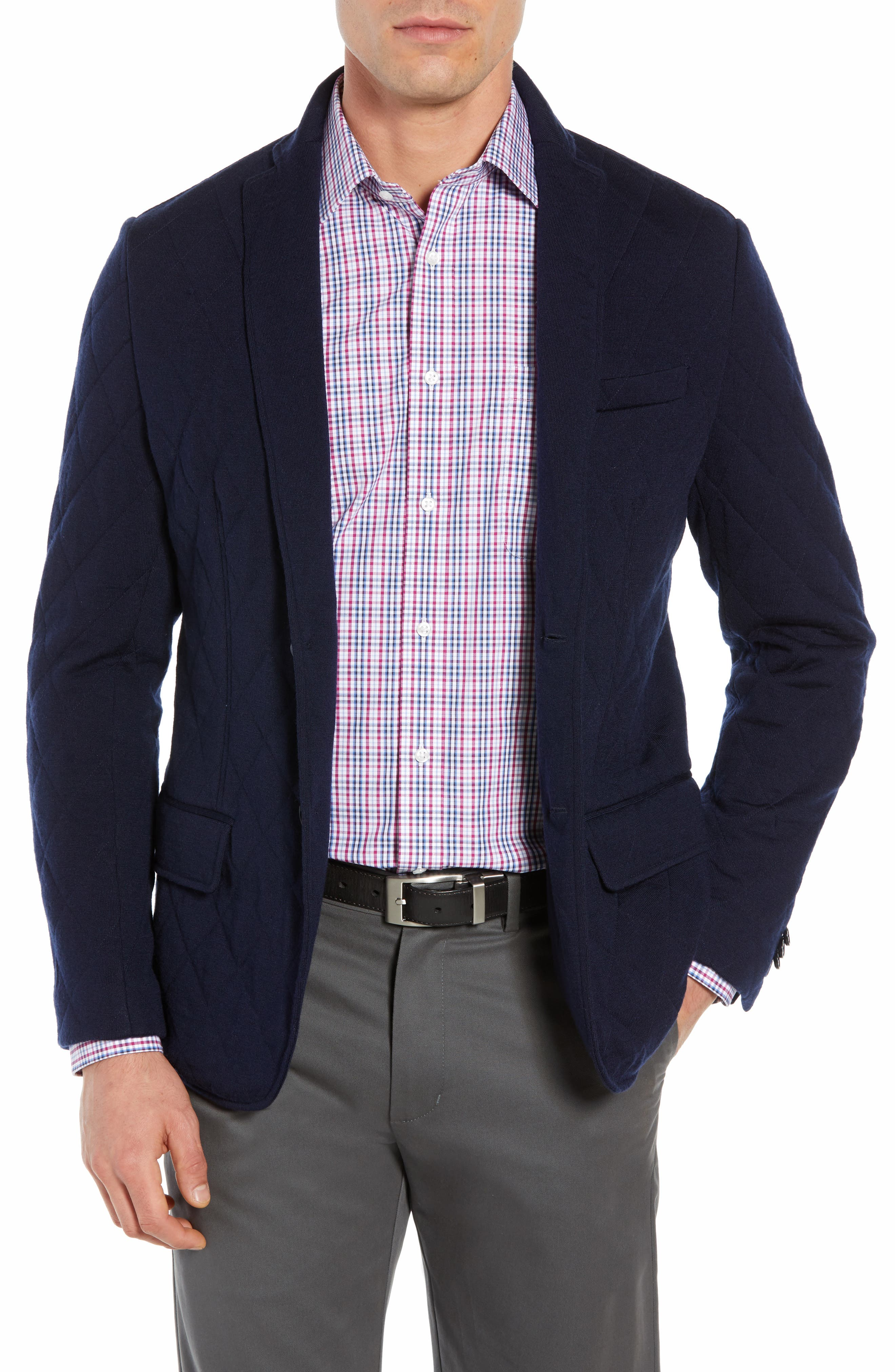 Nordic Knit Regular Fit Blazer,                             Main thumbnail 1, color,                             440