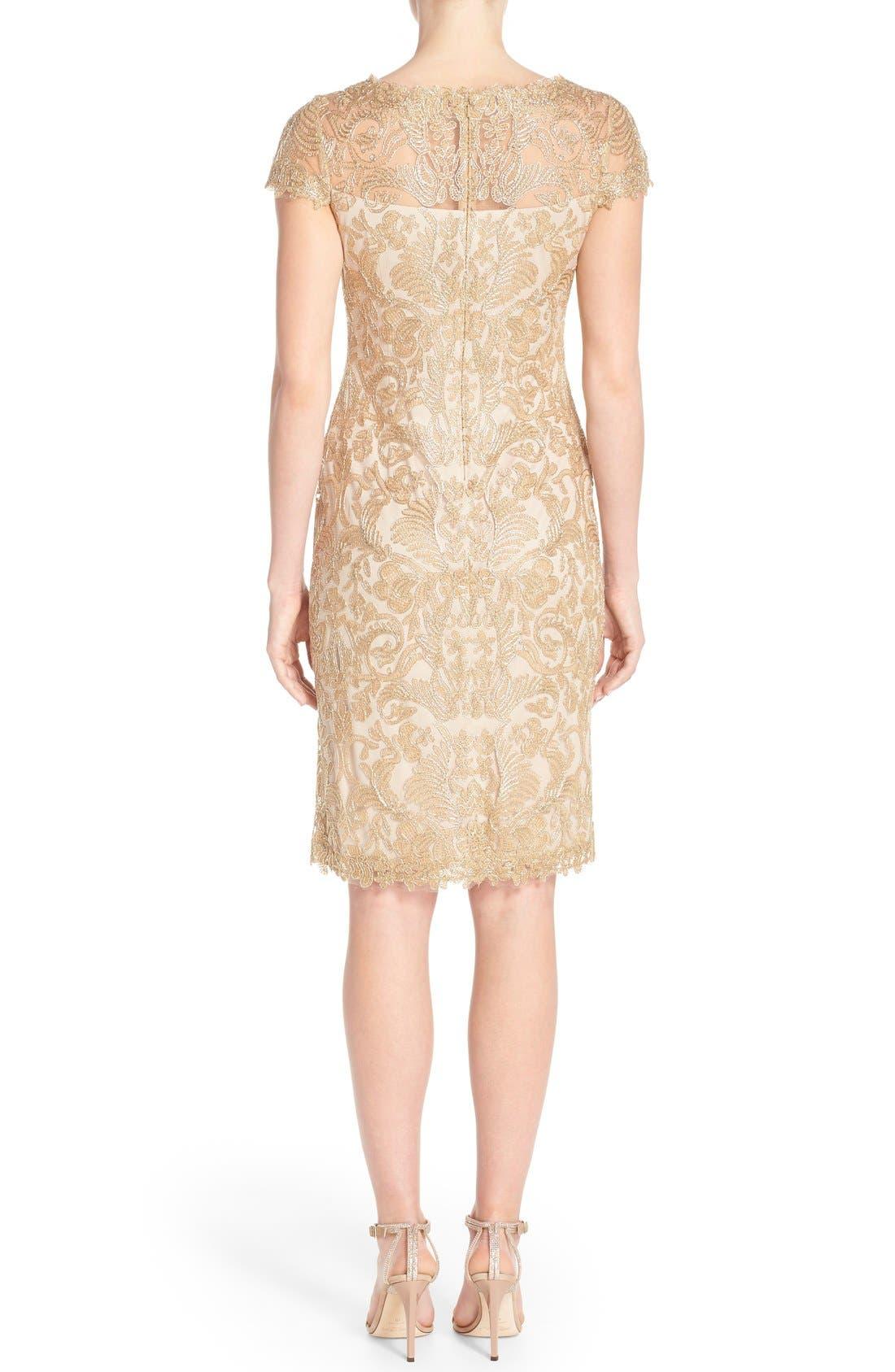 Illusion Yoke Lace Sheath Dress,                             Alternate thumbnail 62, color,