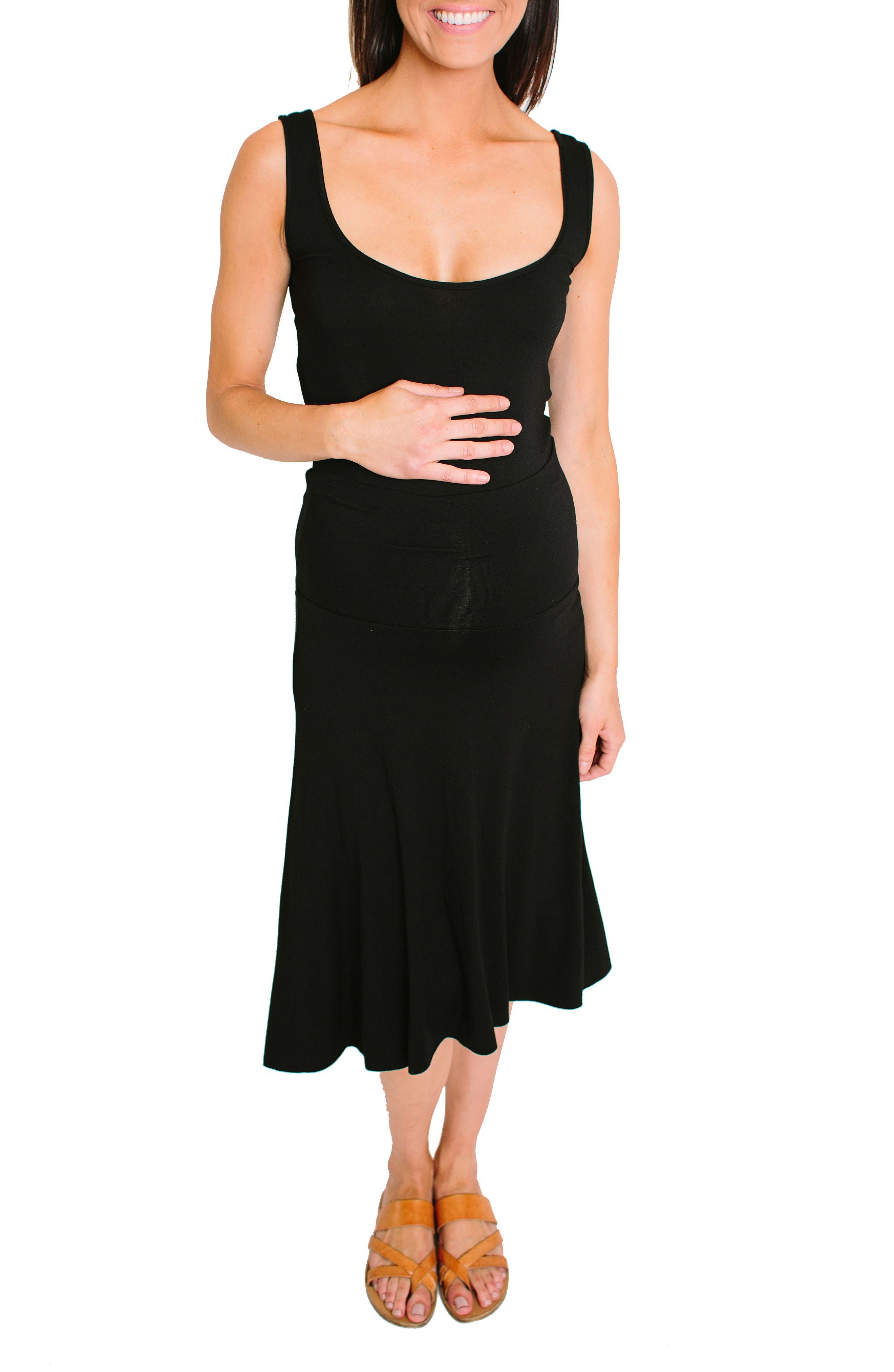 NOM Nola Maternity Skirt,                         Main,                         color, BLACK