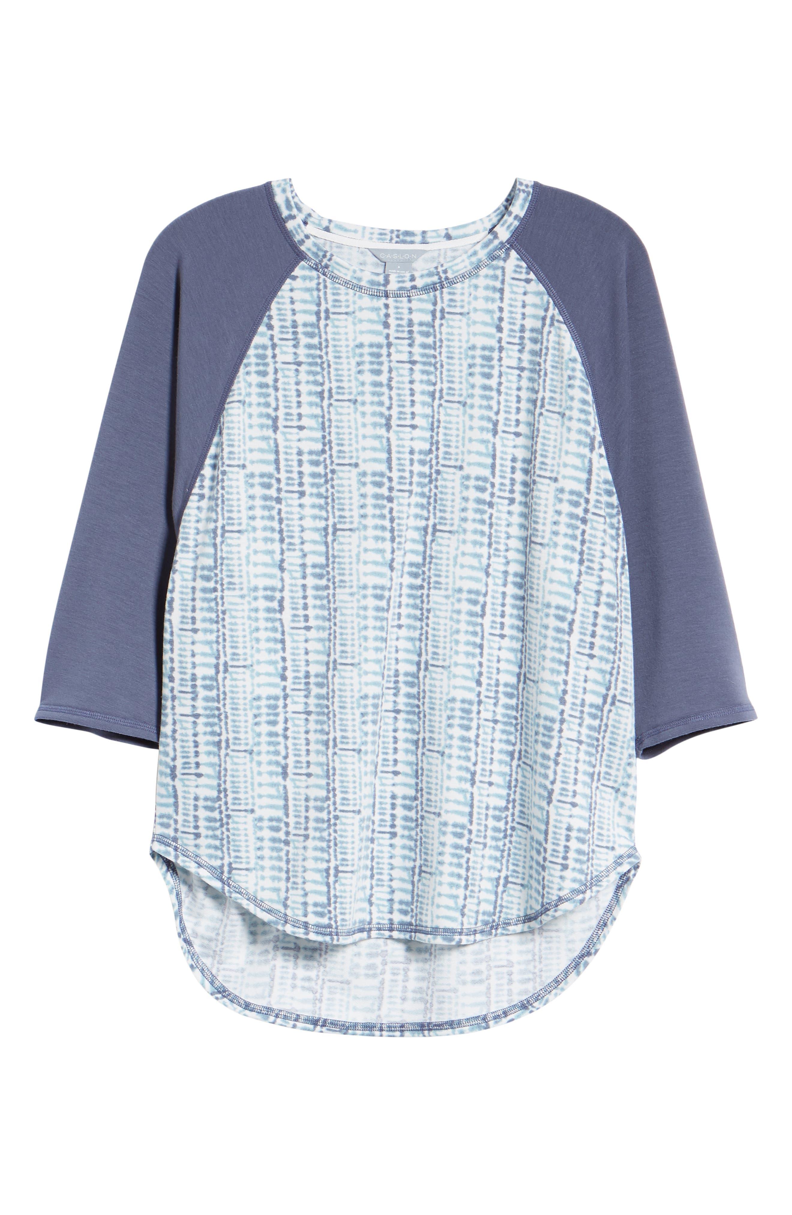 CASLON<SUP>®</SUP>,                             Off Duty Raglan Sleeve Sweatshirt,                             Alternate thumbnail 6, color,                             401