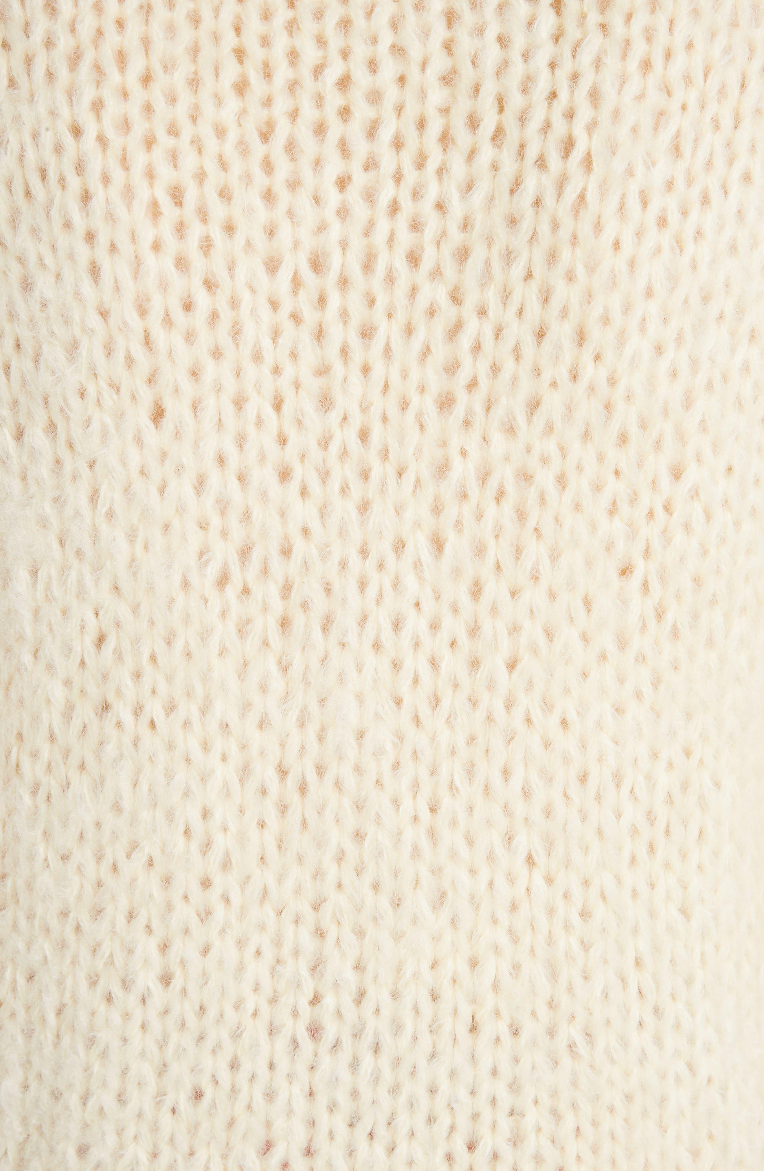 Juilliard Mohair & Wool Puff Sleeve Sweater,                             Alternate thumbnail 5, color,                             900