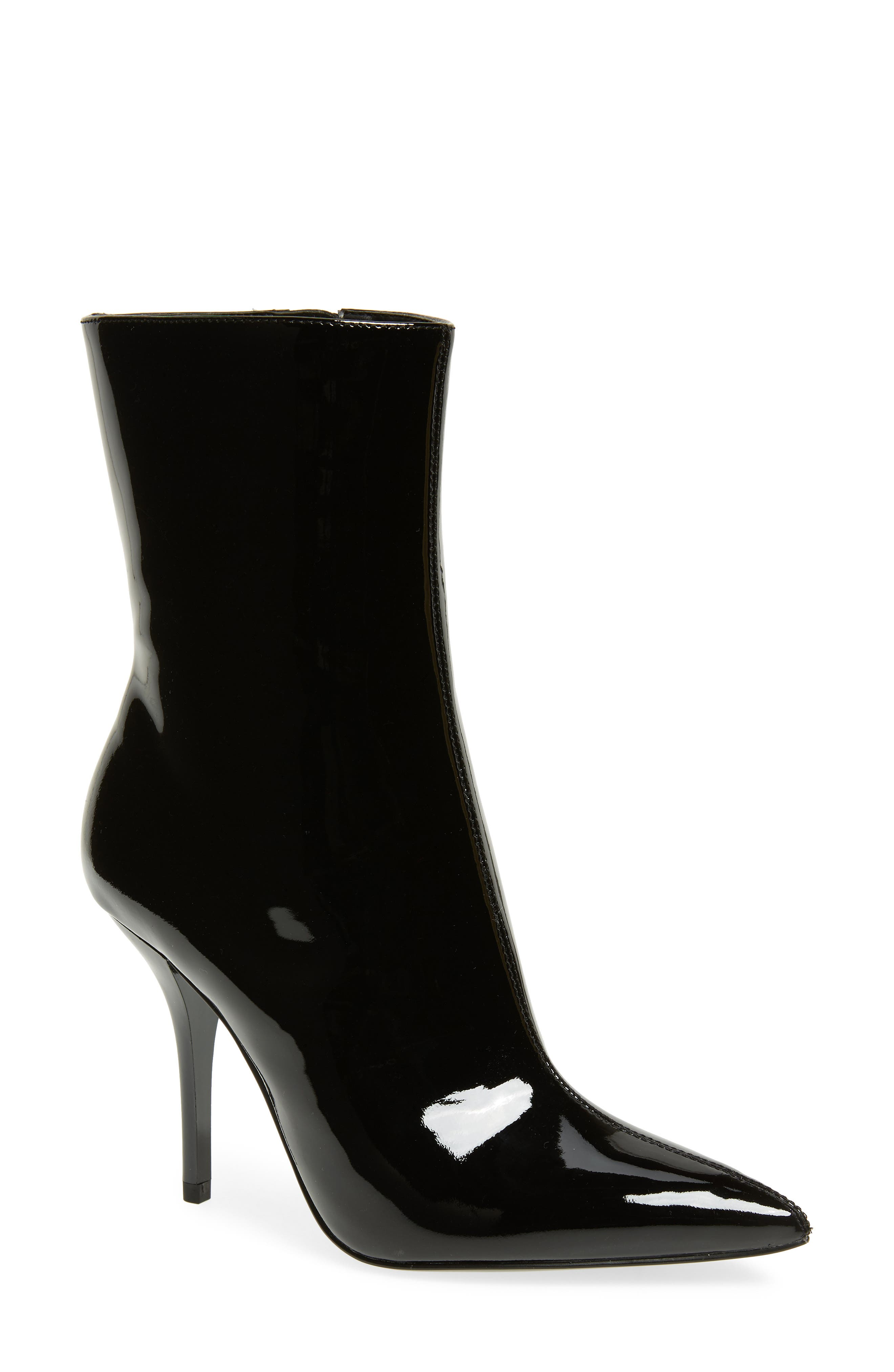 Mada Bootie,                             Main thumbnail 1, color,                             BLACK PATENT LEATHER