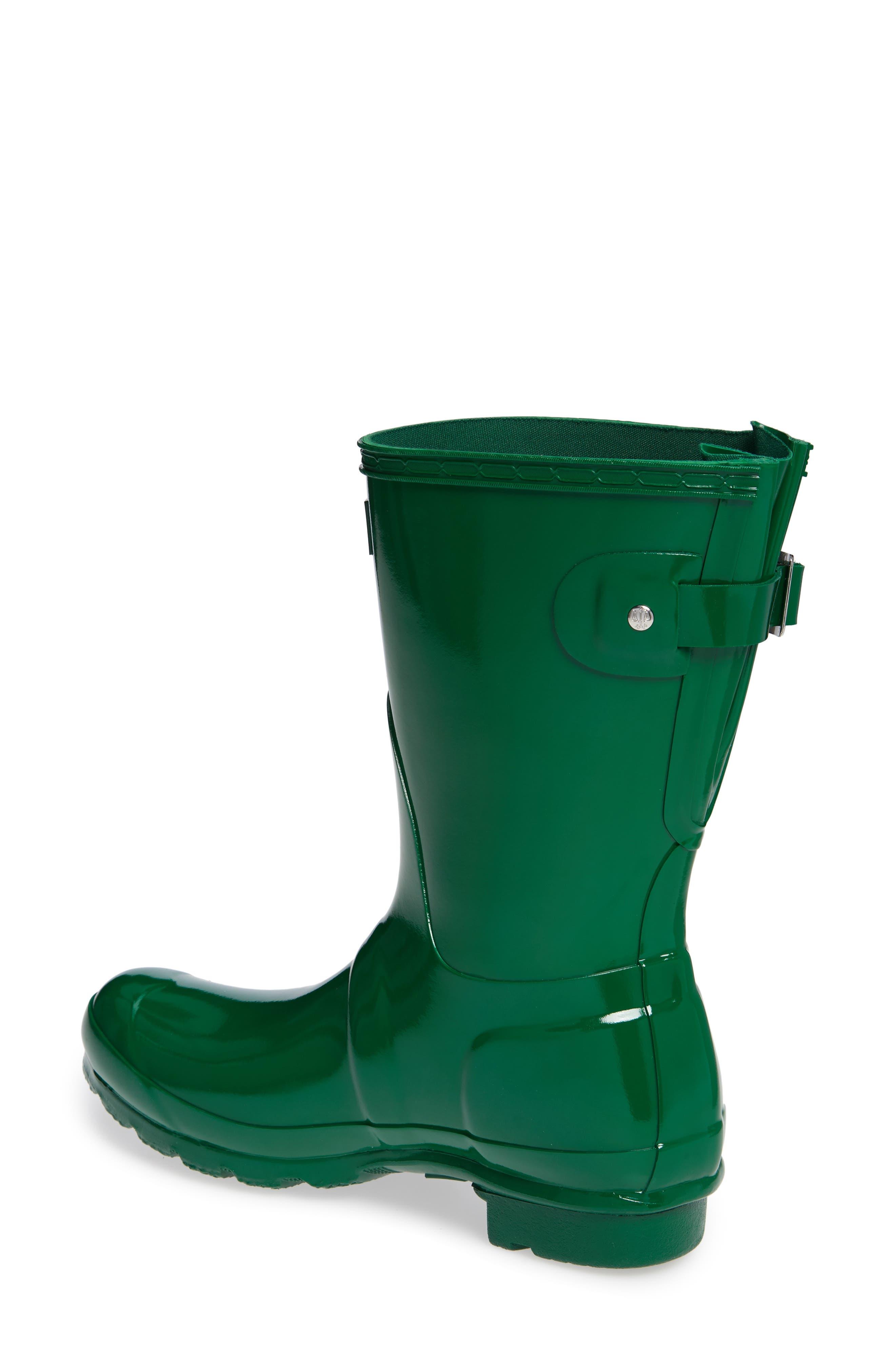 Original Short Adjustable Back Gloss Rain Boot,                             Alternate thumbnail 2, color,                             HYPER GREEN
