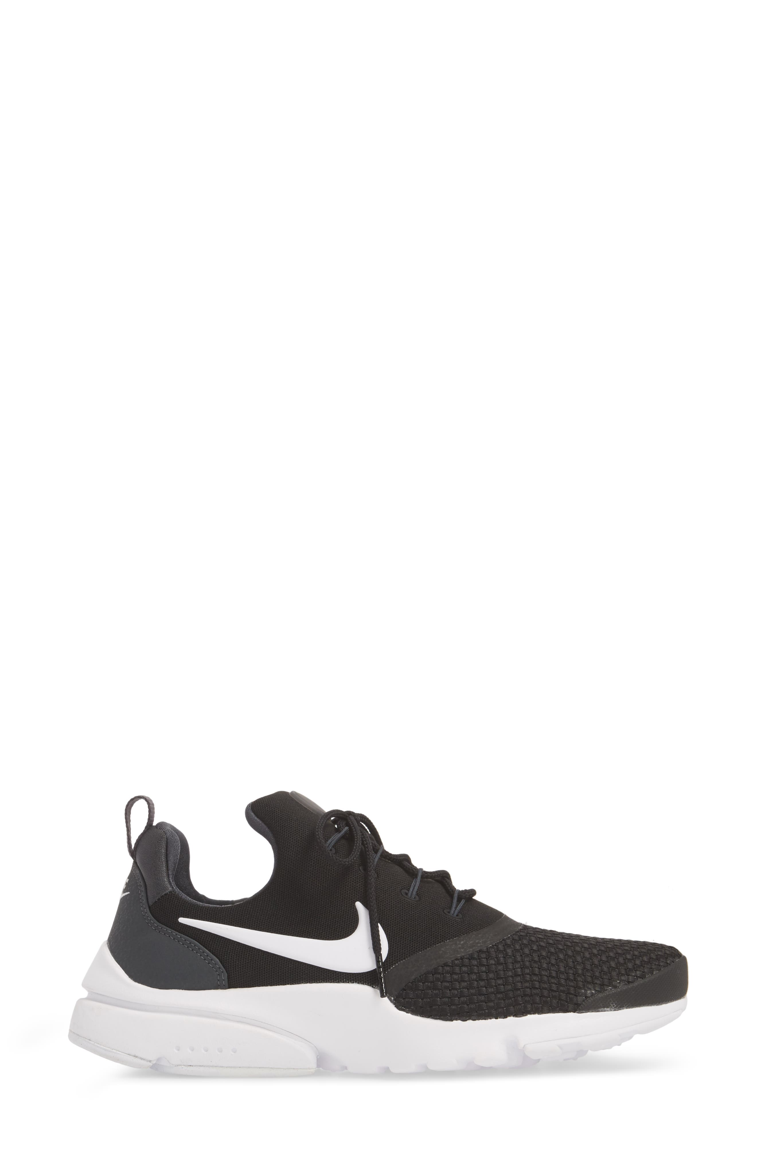 Presto Fly Sneaker,                             Alternate thumbnail 3, color,                             BLACK/ WHITE/ ANTHRACITE