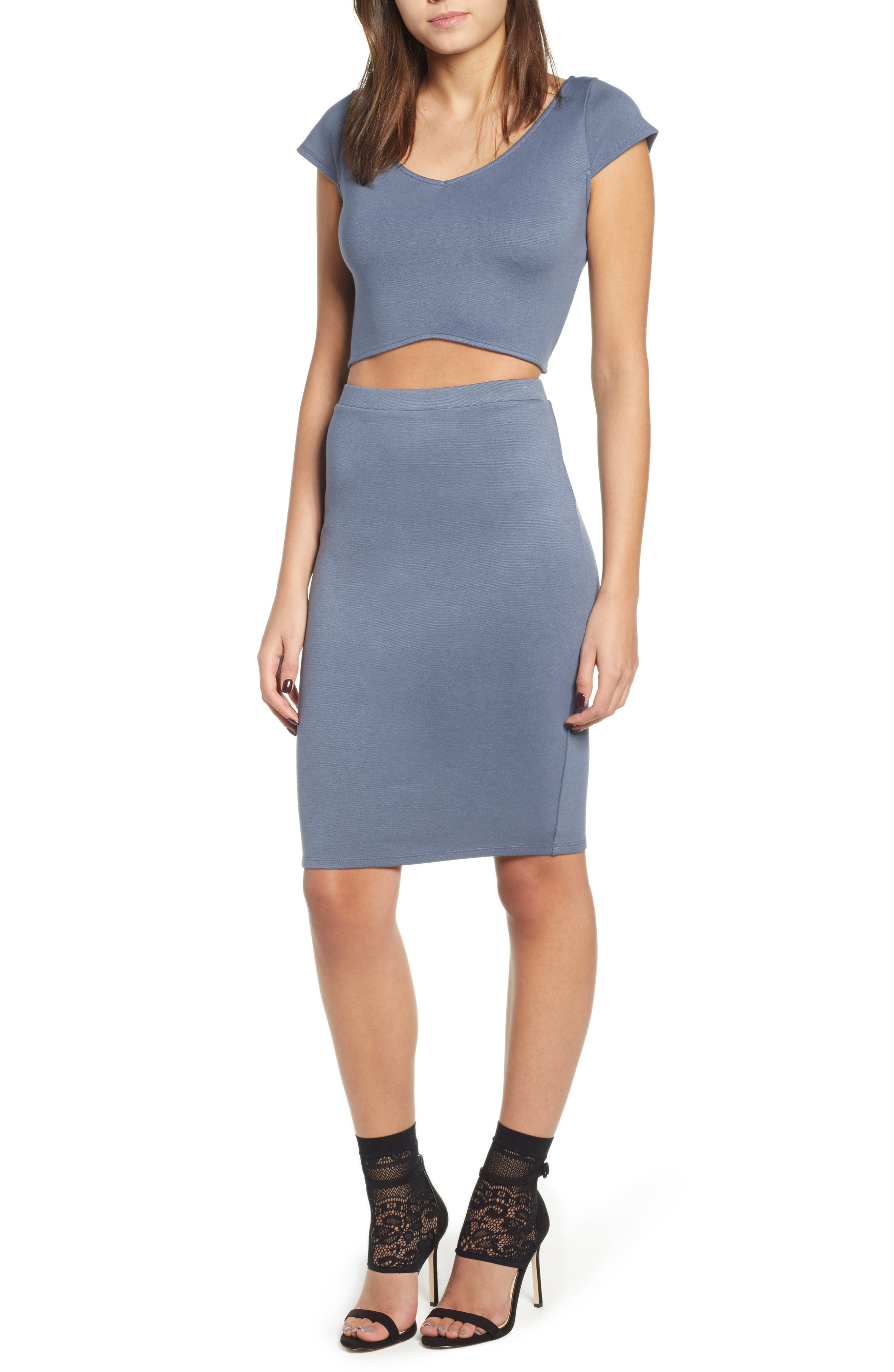 Pencil Skirt,                             Alternate thumbnail 7, color,                             GREY GRISAILLE