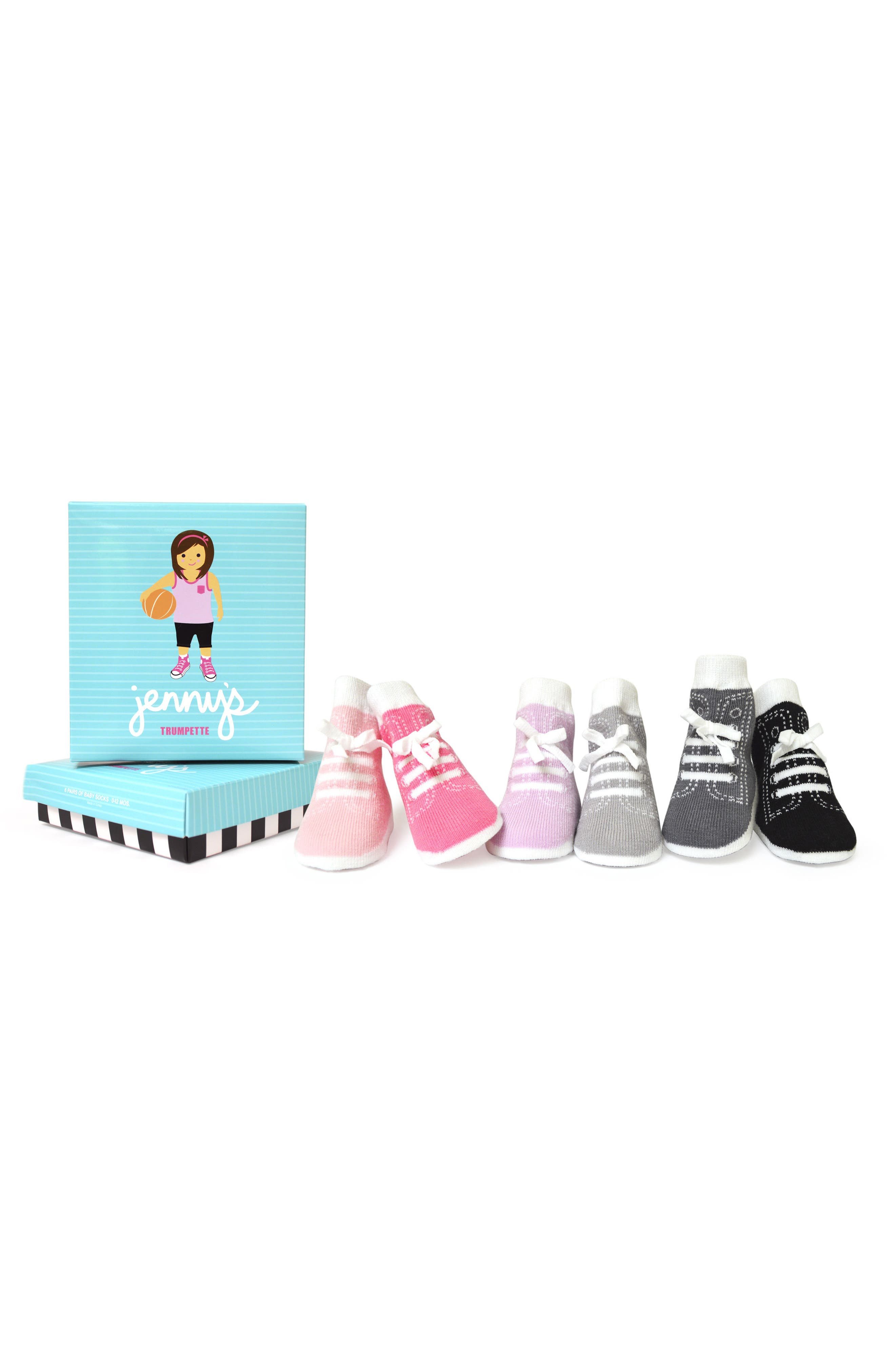Jenny 6-Pack Socks,                             Main thumbnail 1, color,                             650